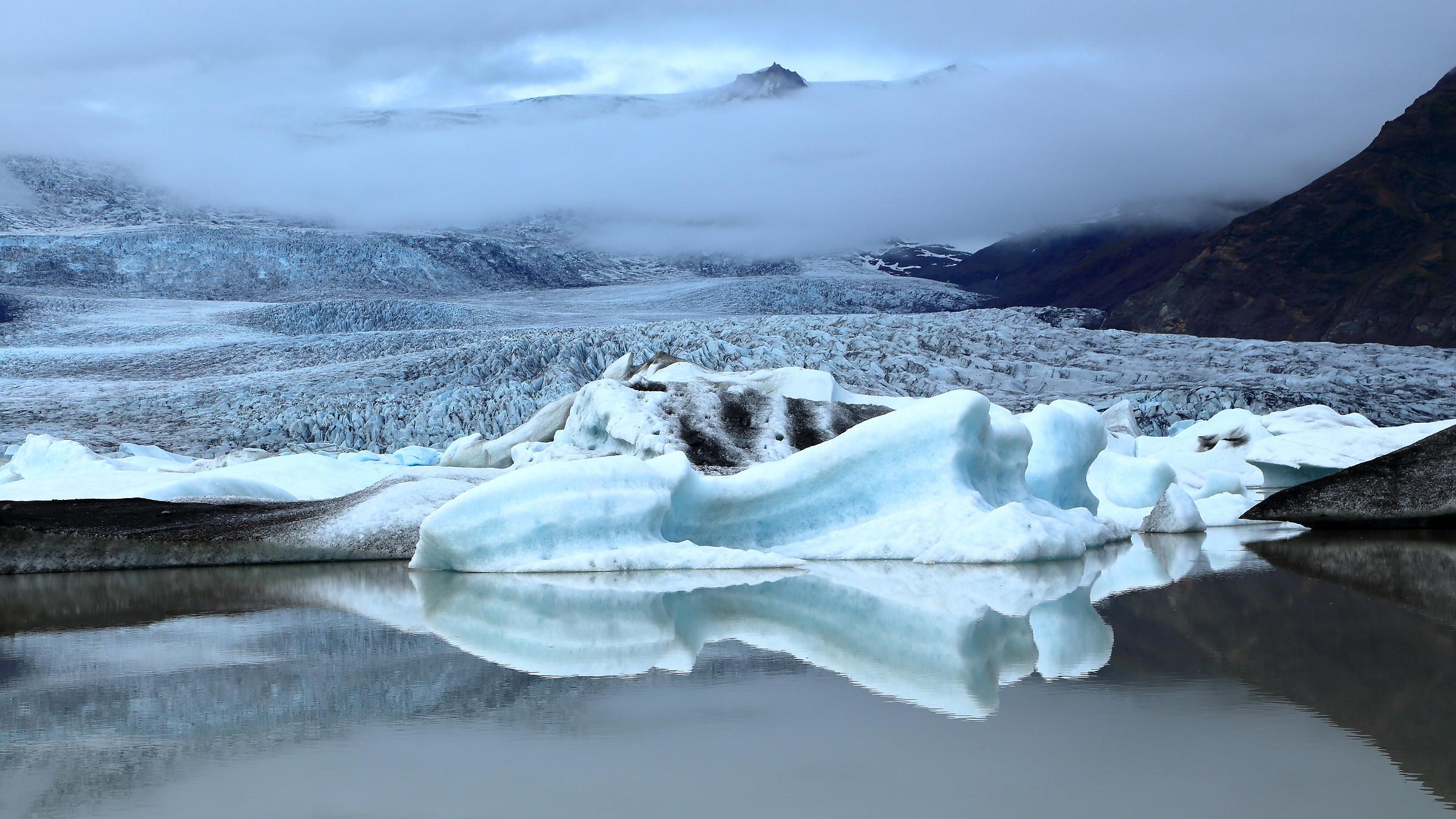 The glacier descent...