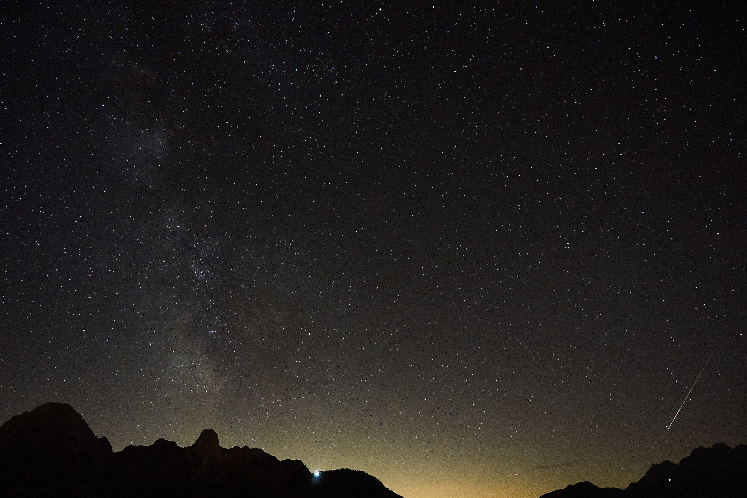 Night of stars on the Cadore from Danta...