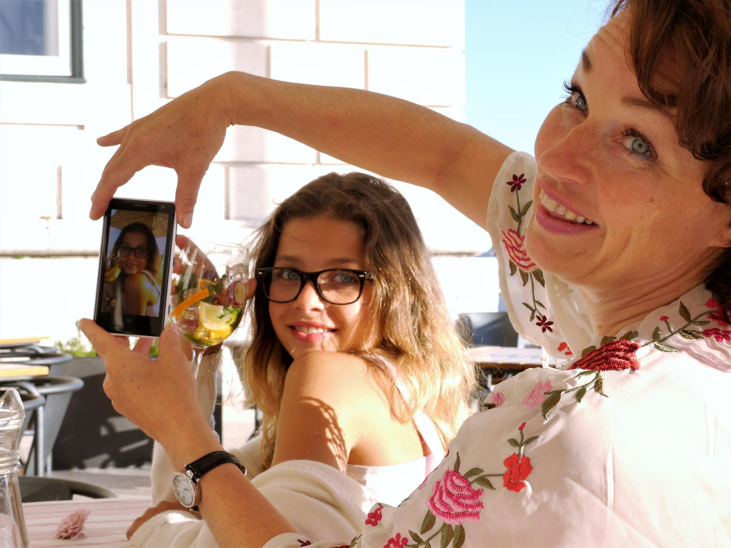 Sofia and my wife. Lisbon 2011...