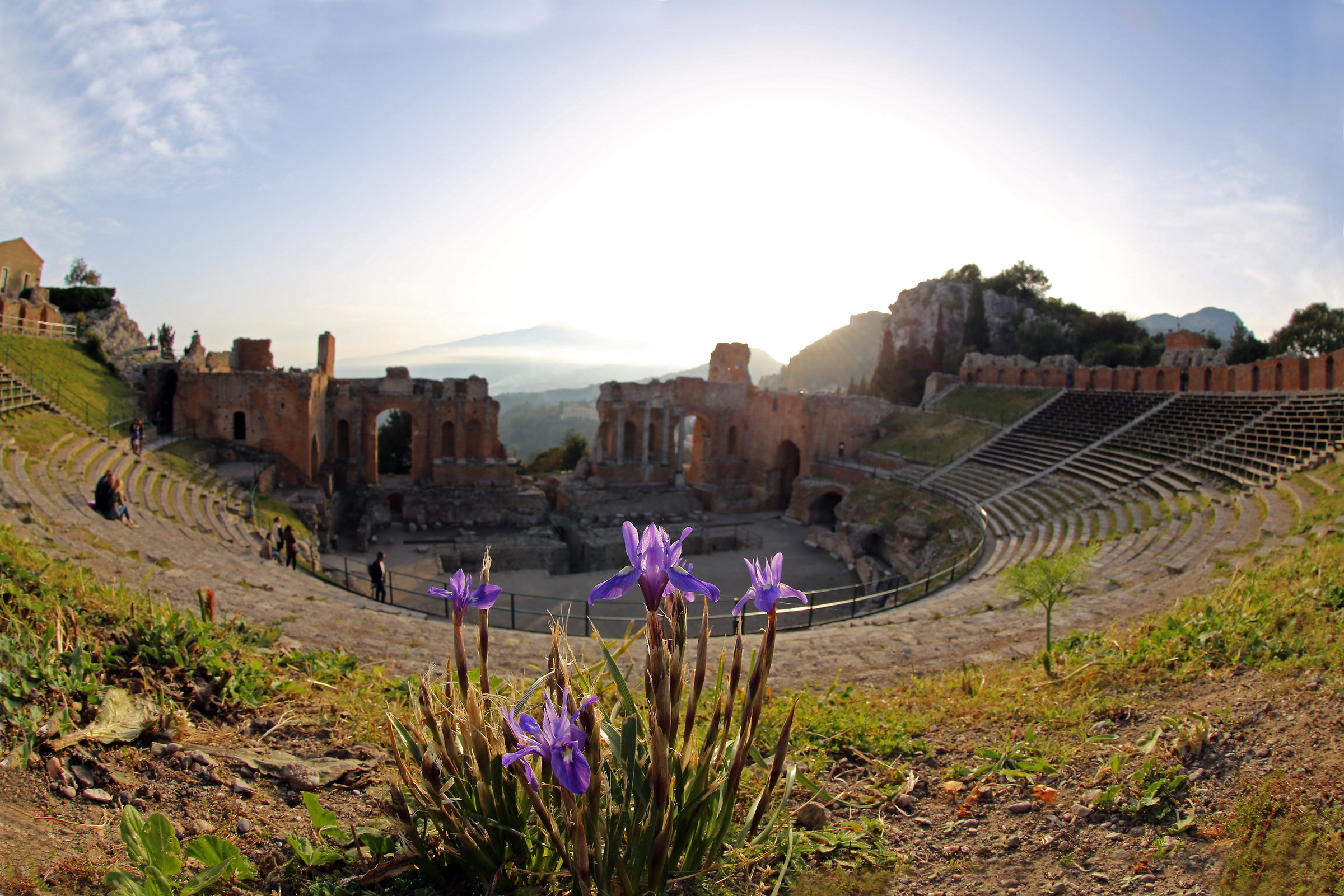 Fiorello at the Greek Theatre in taormina...
