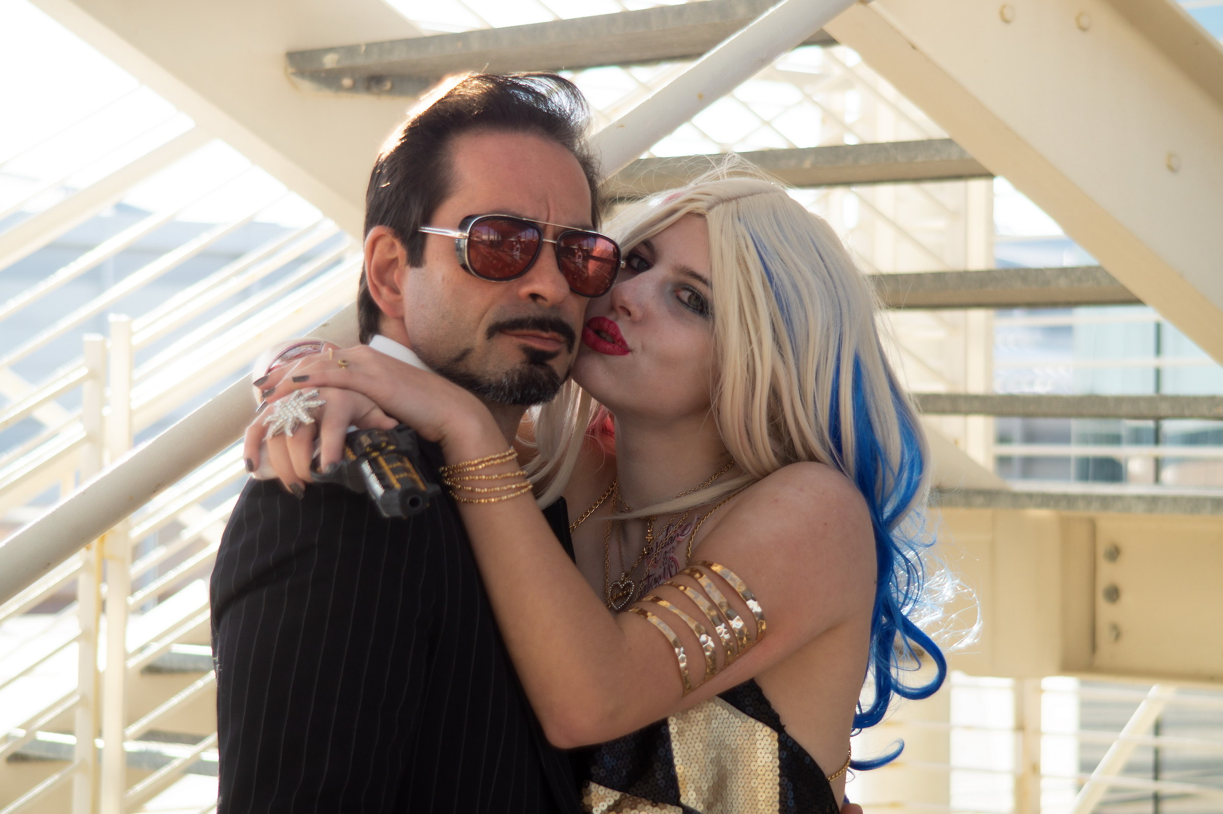 Harley Queen and Tony Stark...