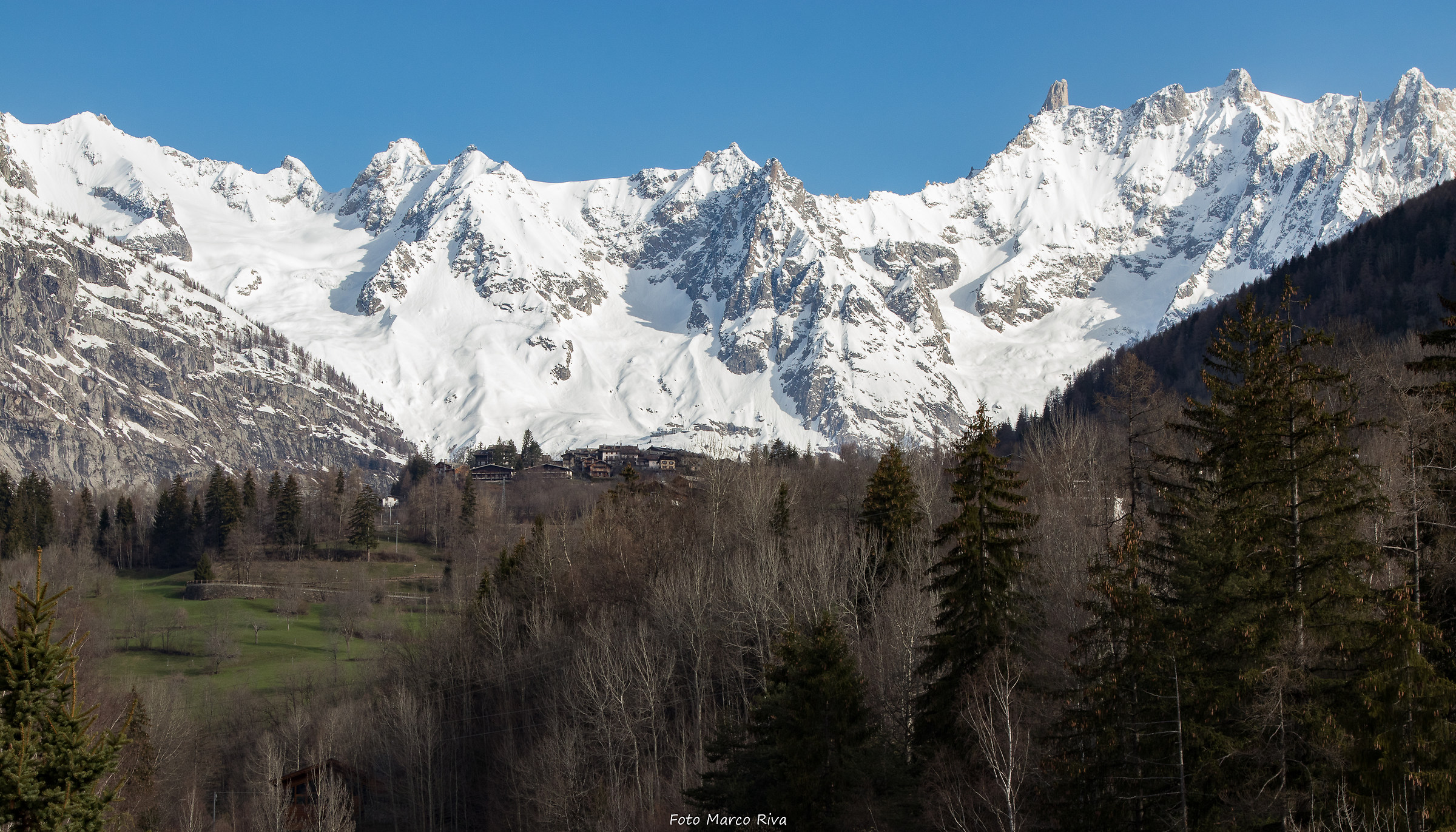 View of Mont Blanc...