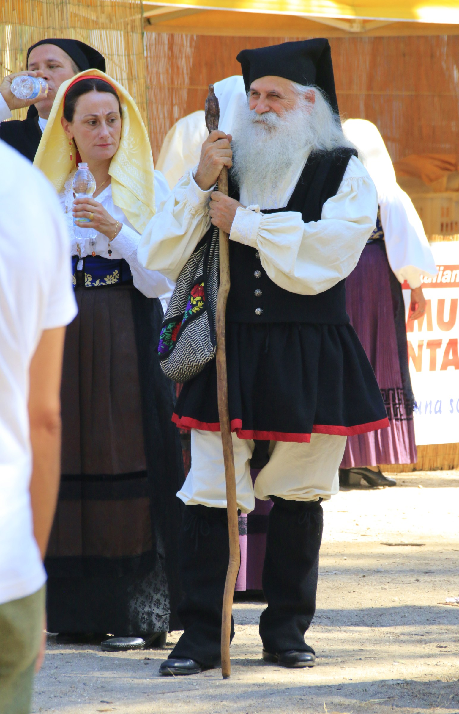 Hipster in Sardinian costumes...