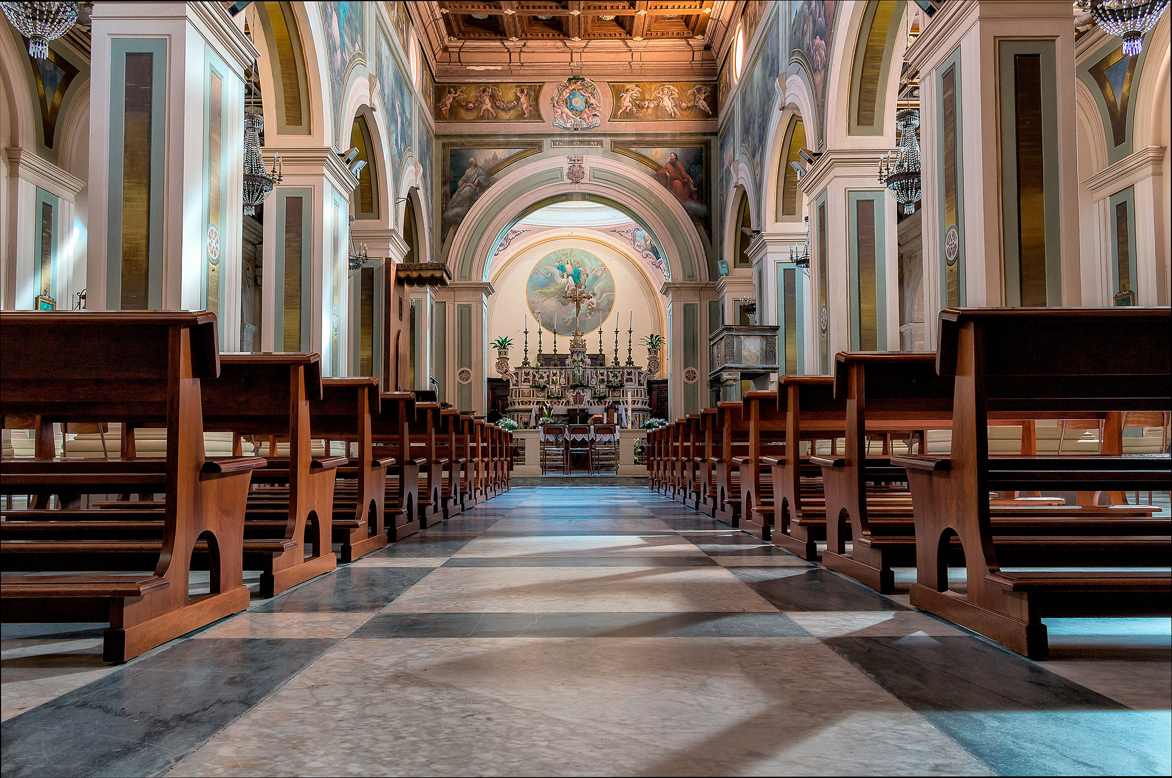 Interior of the Cathedral of Saint Anastasia!...