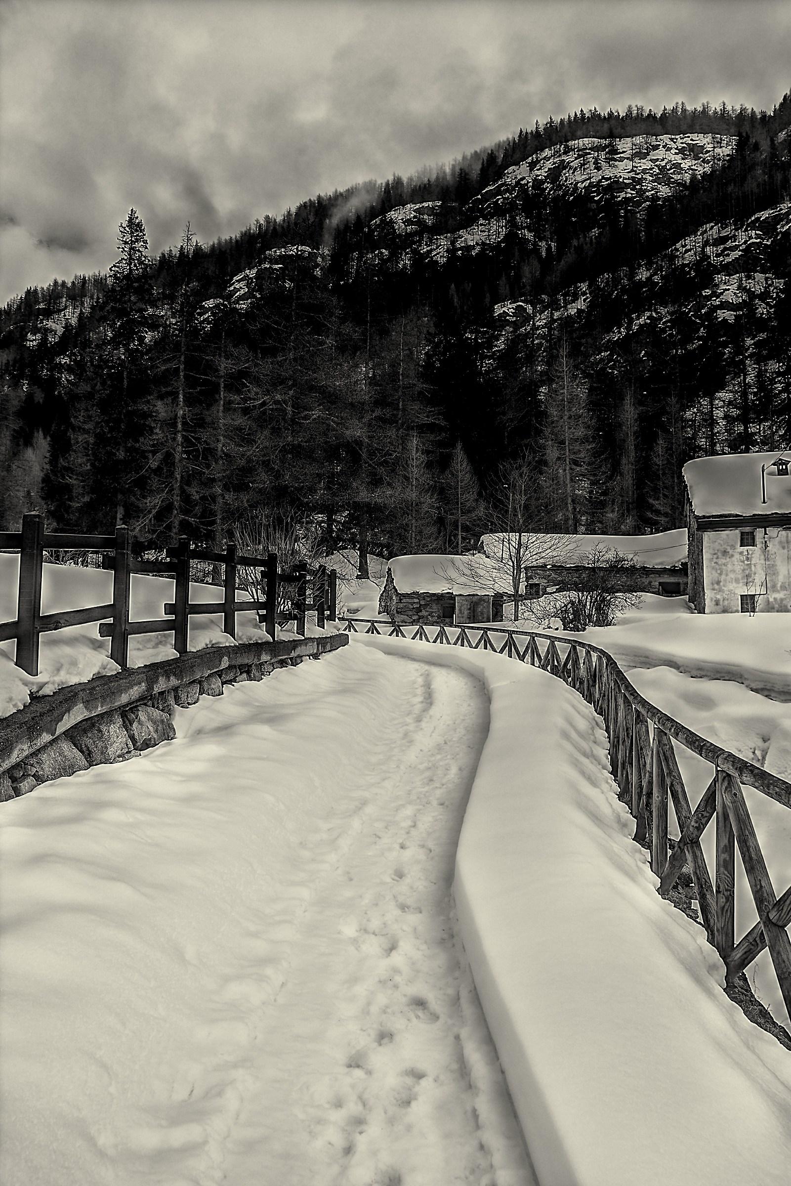 Winter in Ceresole Reale...