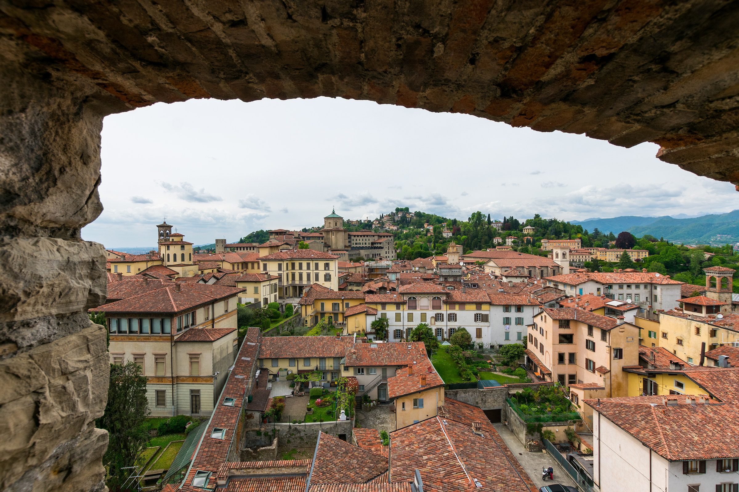 Upper town and its hills, Bergamo....