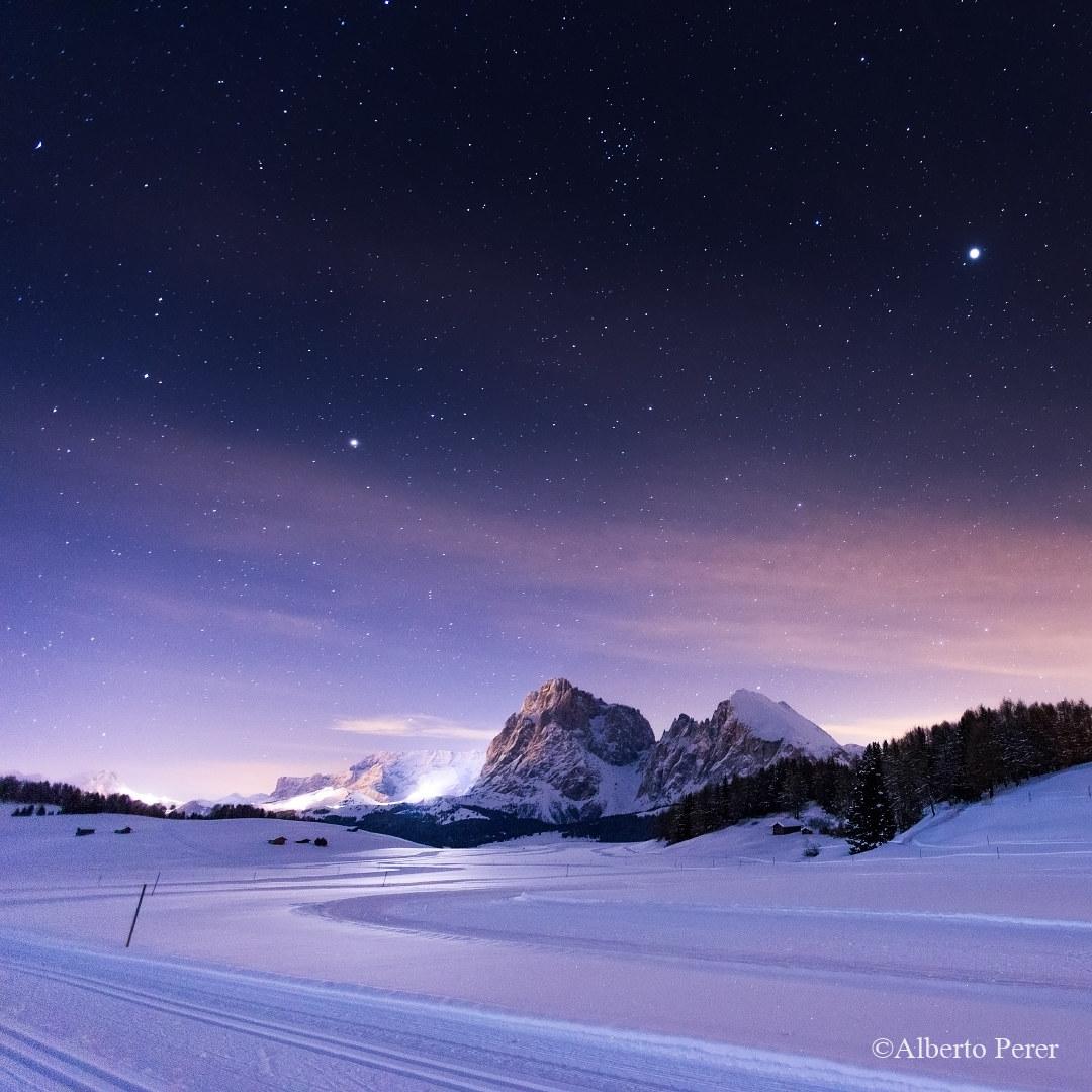 Stars over the Nordic ski slopes...