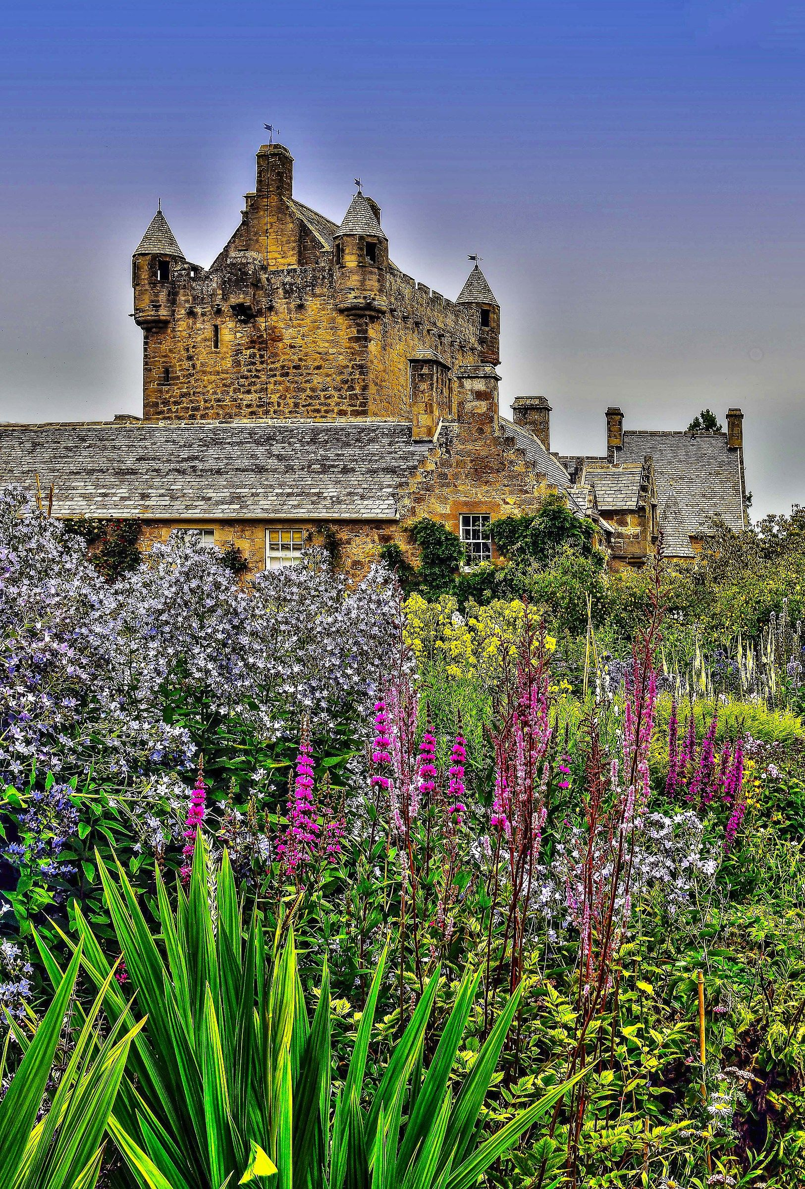 Castle among the flowers...