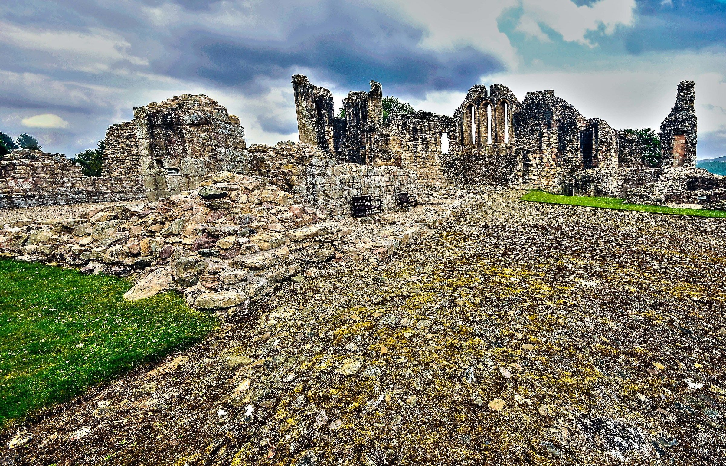 the remains of the Castle...