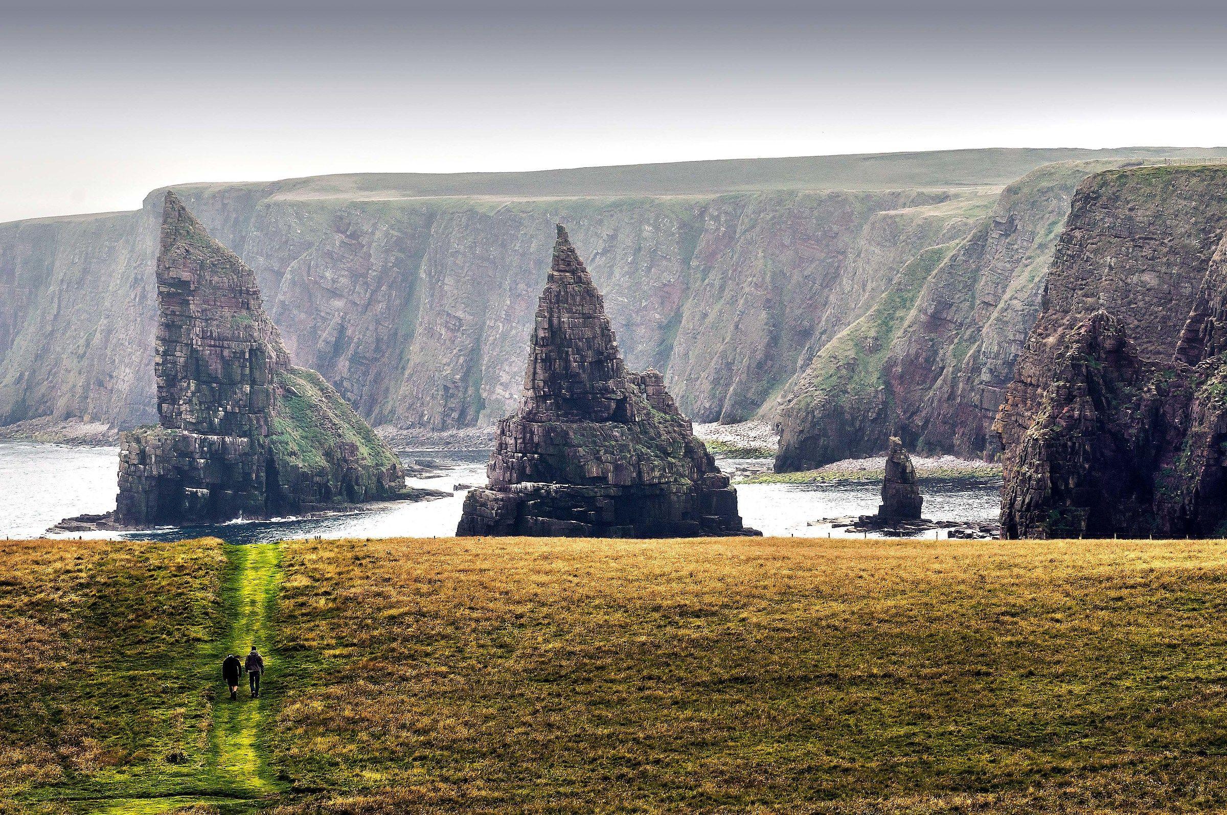the cliffs of john o'groats...