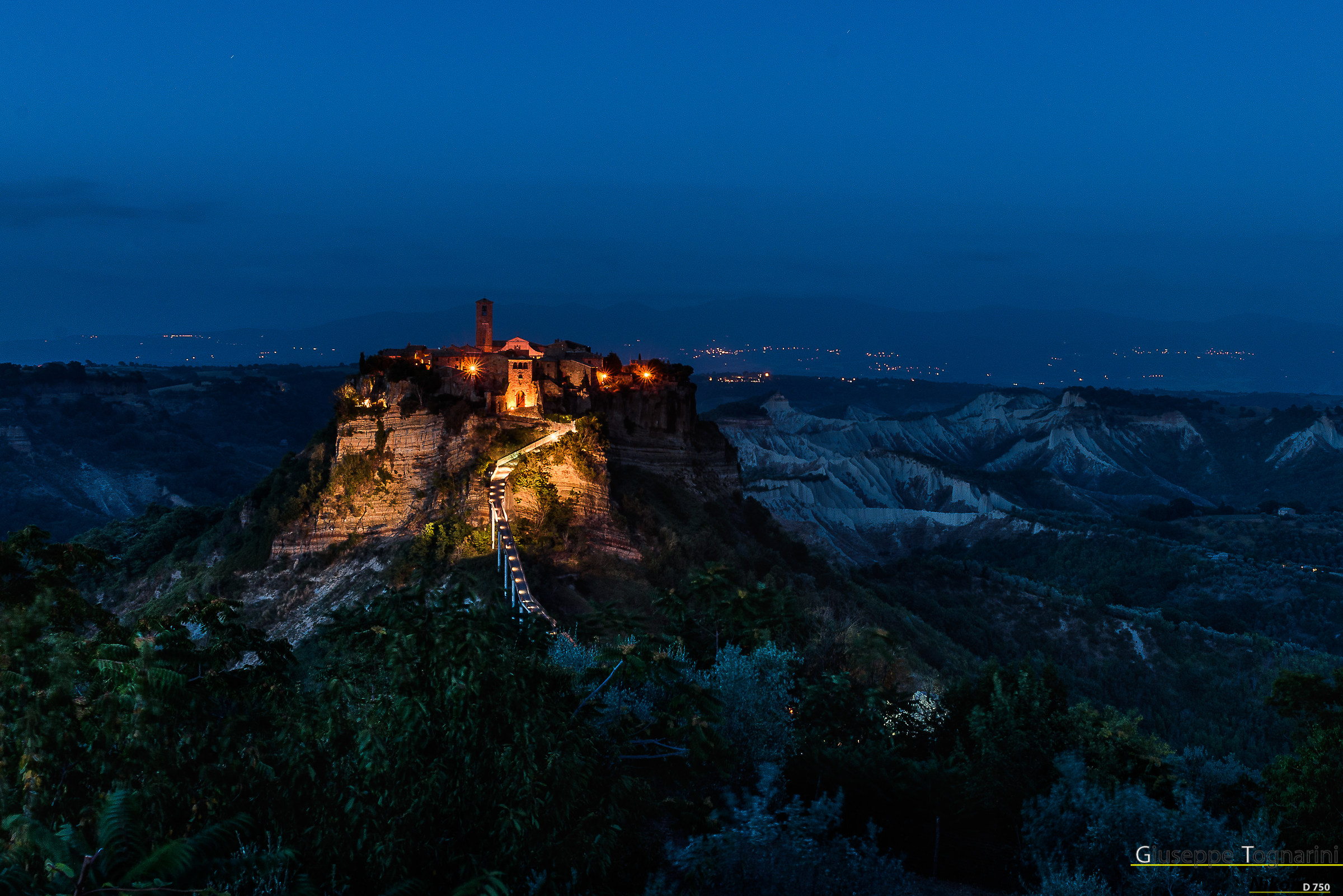 """Civita di-""""The Dying Country"""" (Blue hour)..."""