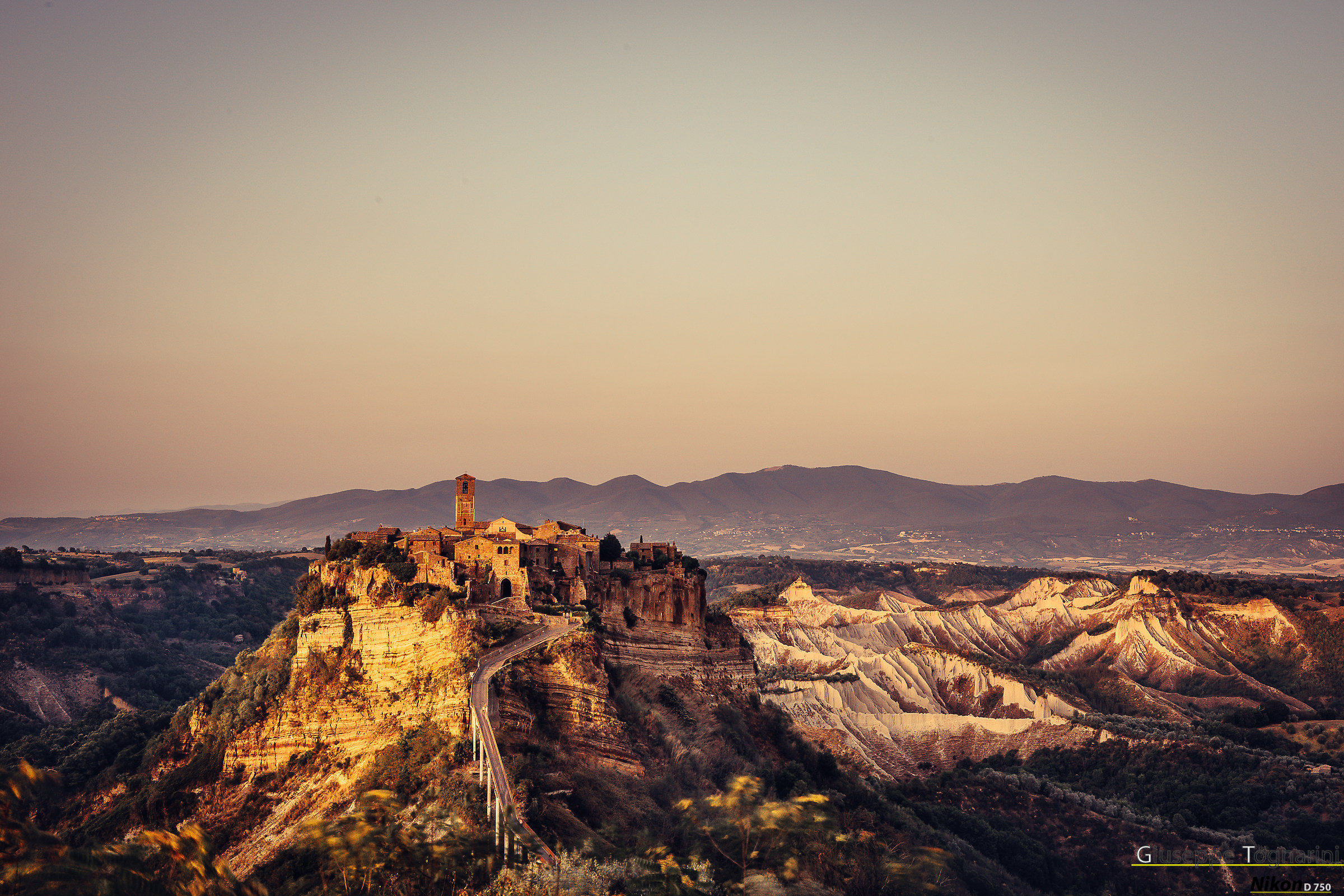 """Civita di-""""The Dying Country"""" (Golden hour)..."""