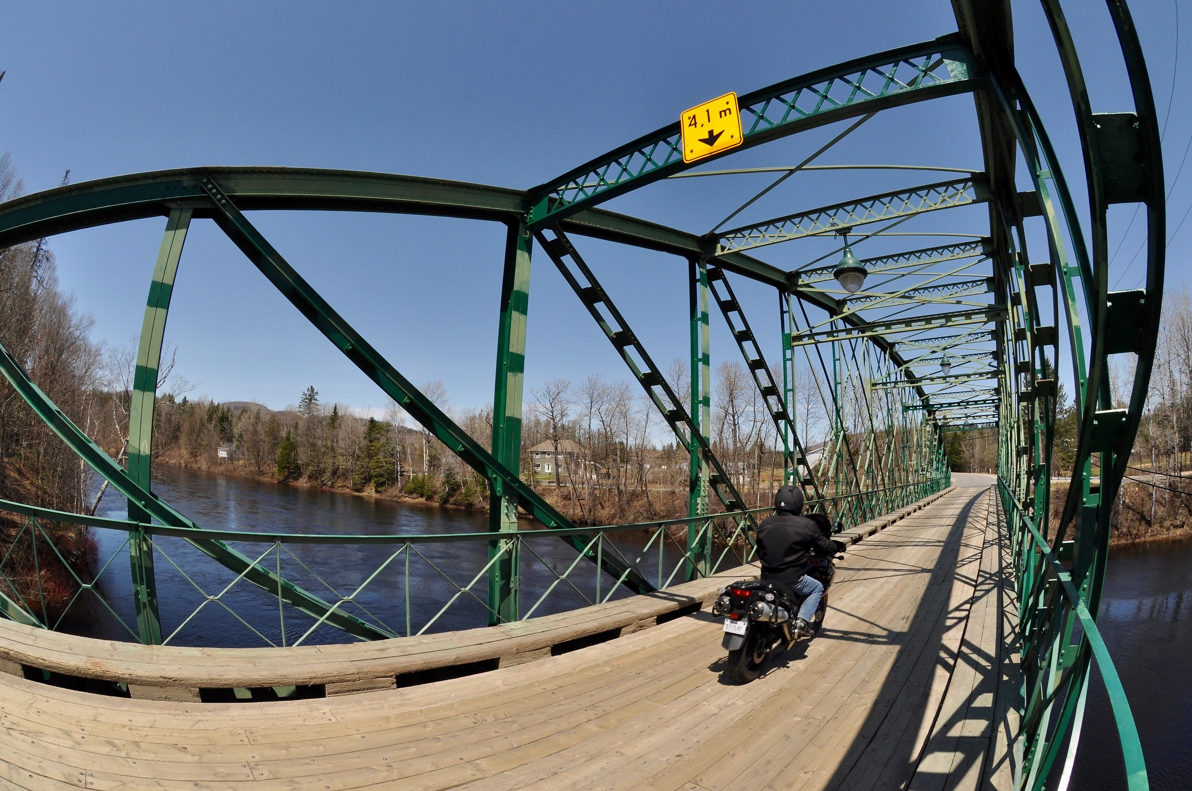 Motorcycle ride on a beautiful day - Quebec - Canada...