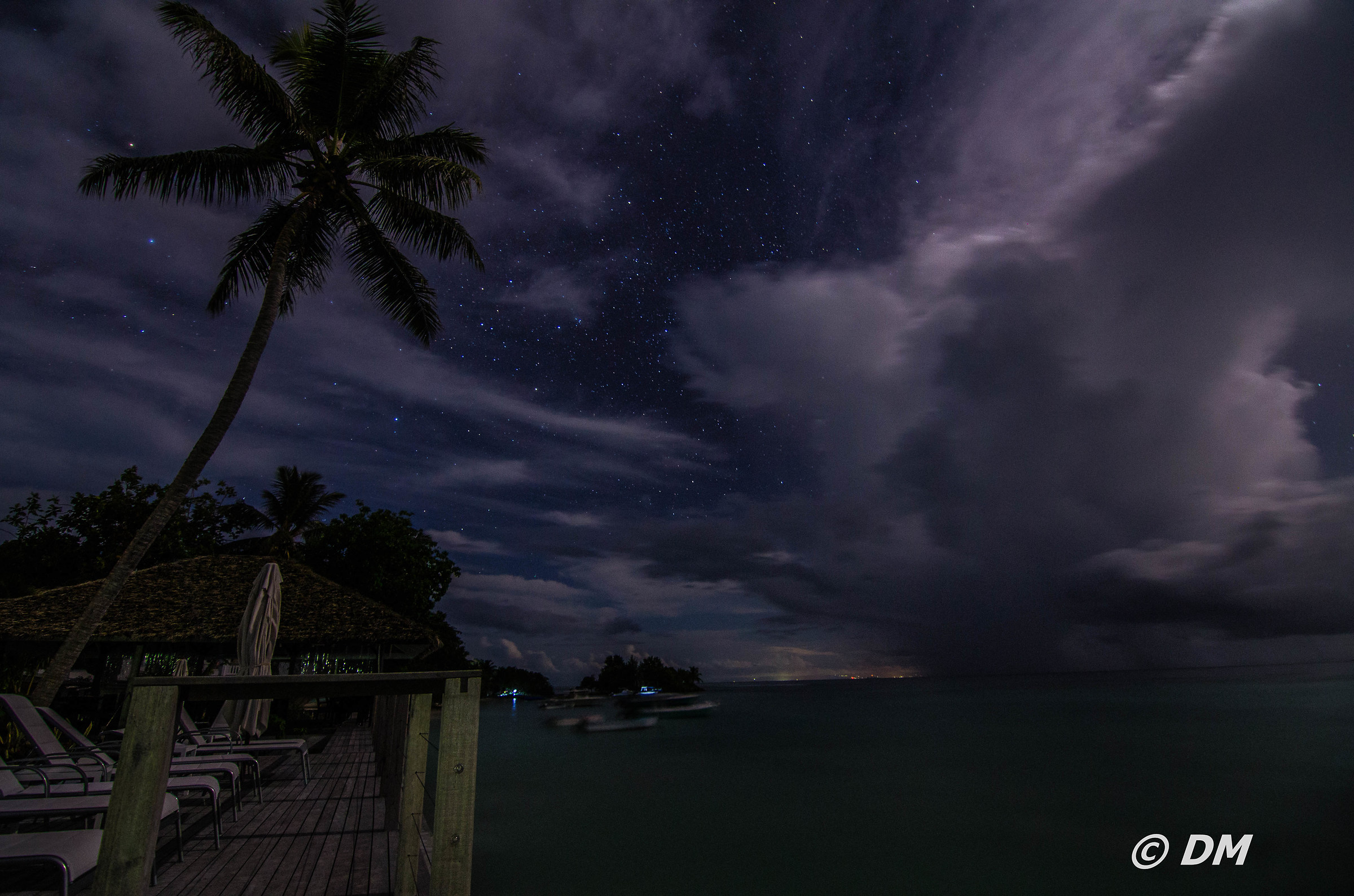 La Digue by night...
