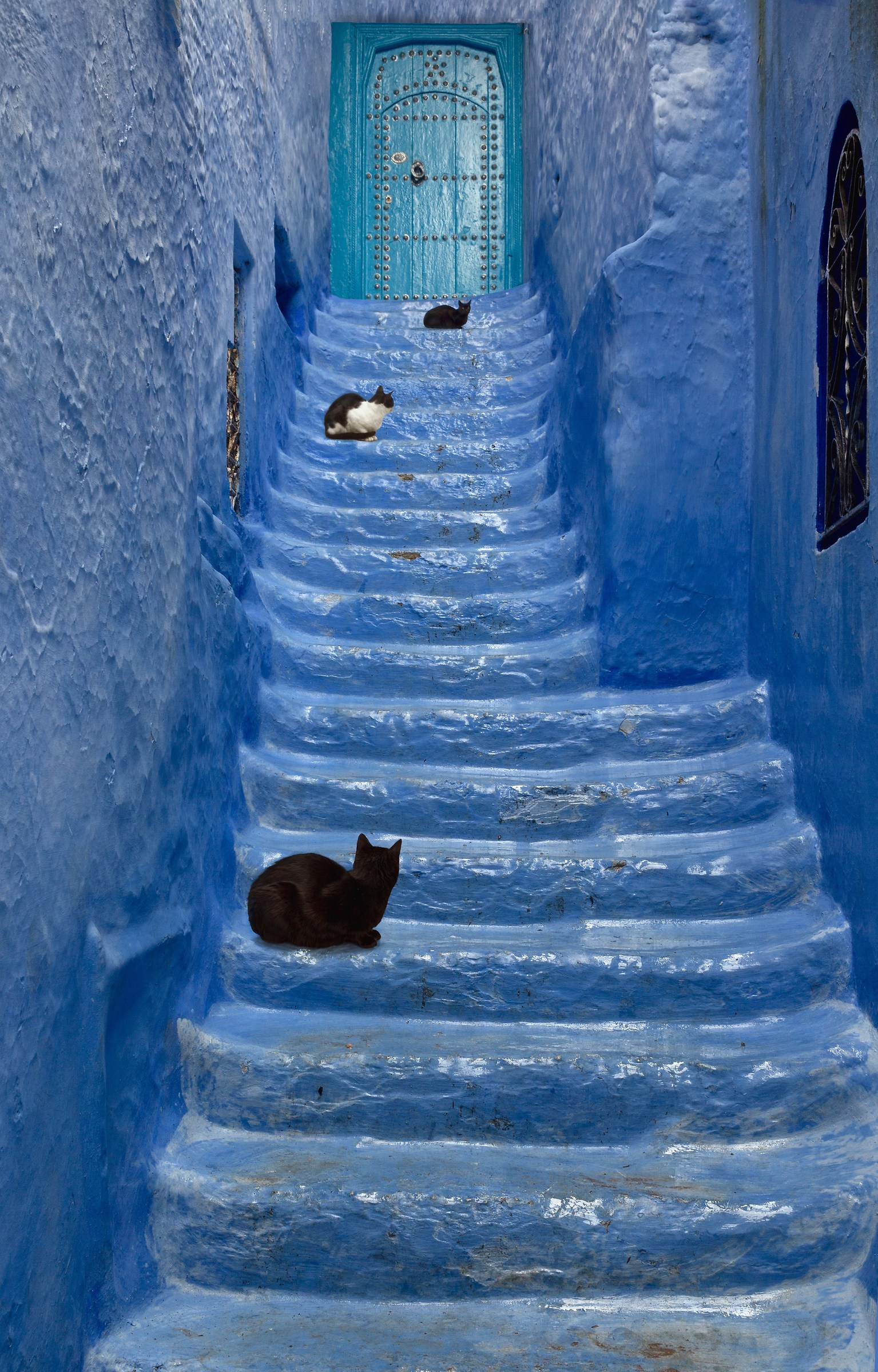 ... the blue Staircase......