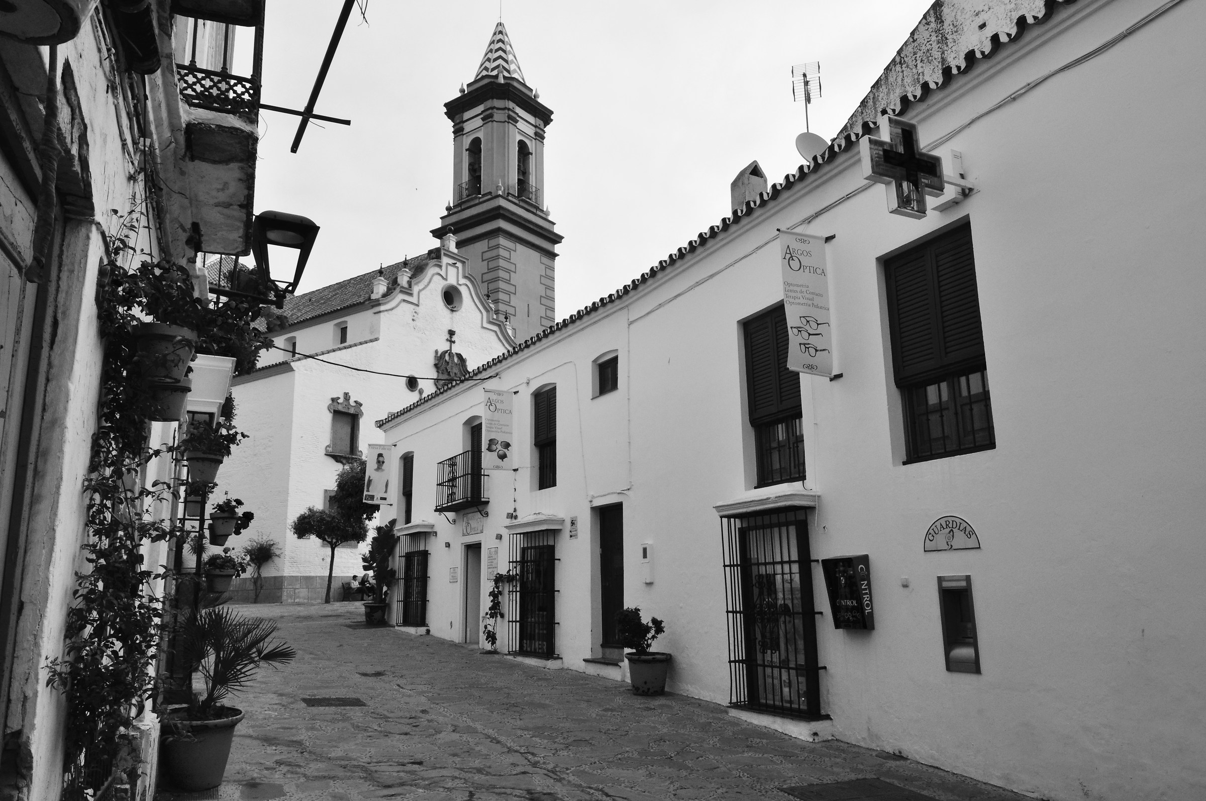 Beautiful street of Estepona village - Espagna...