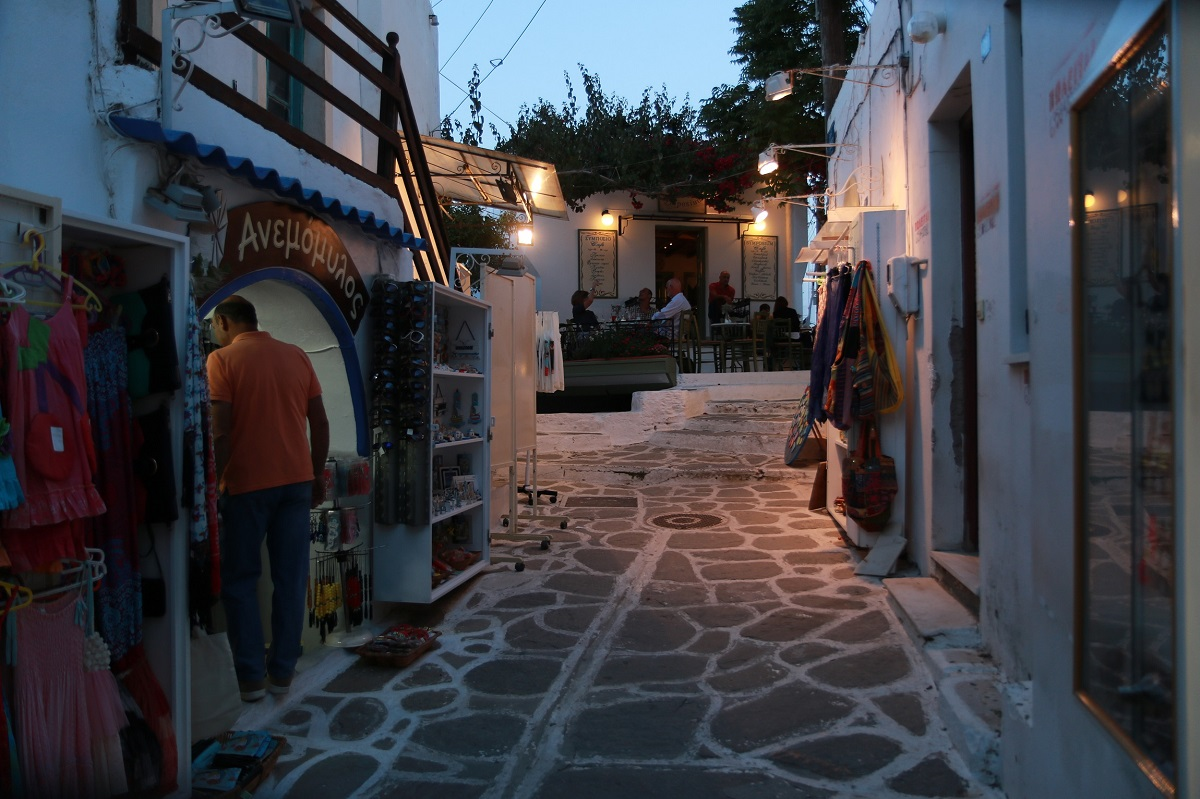 Walking in the Isle of Paros in the evening...