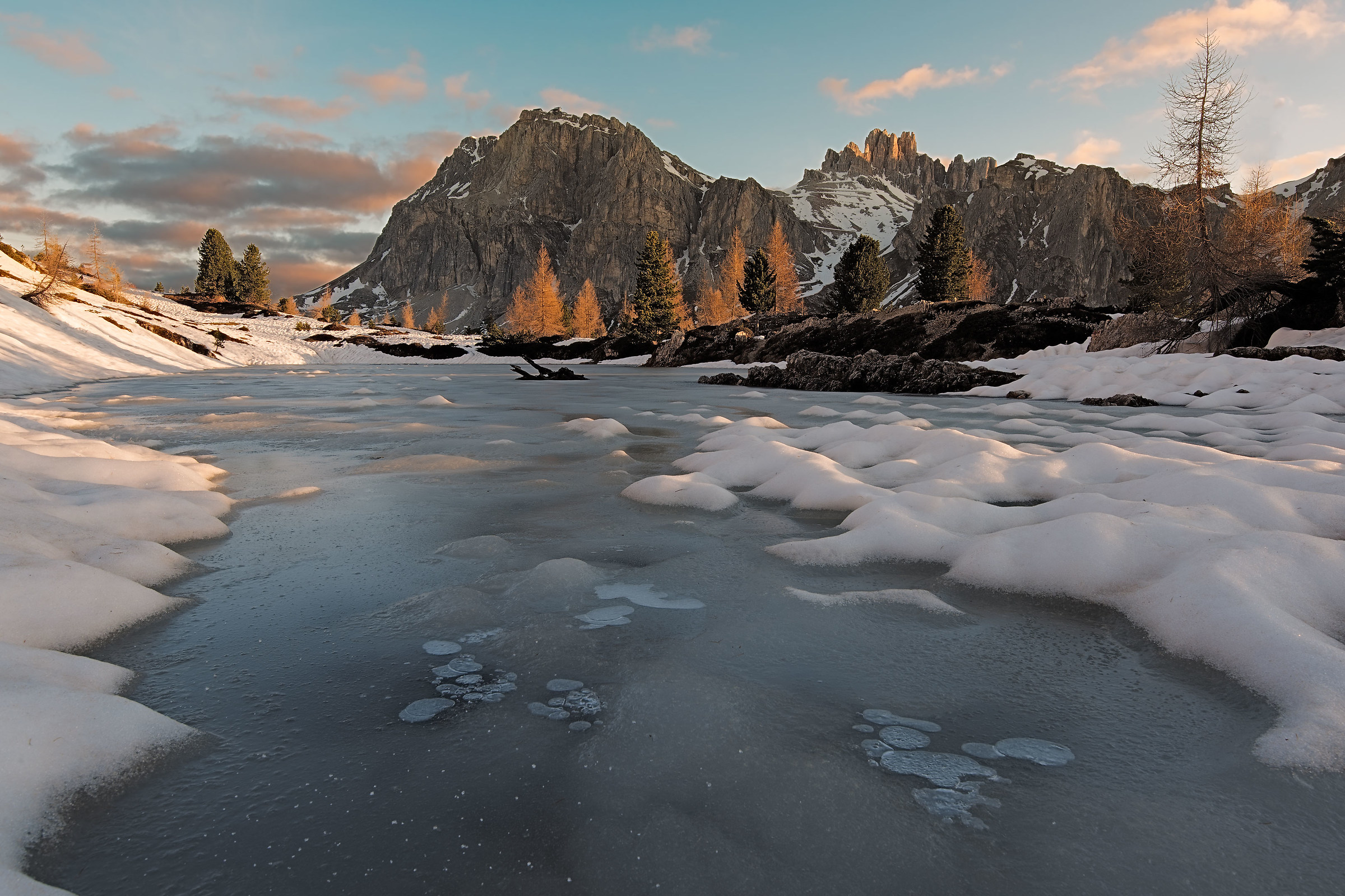 Thaw in the Dolomites...
