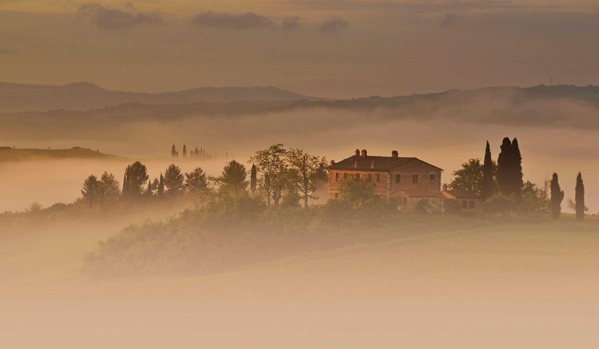 House in Fog...