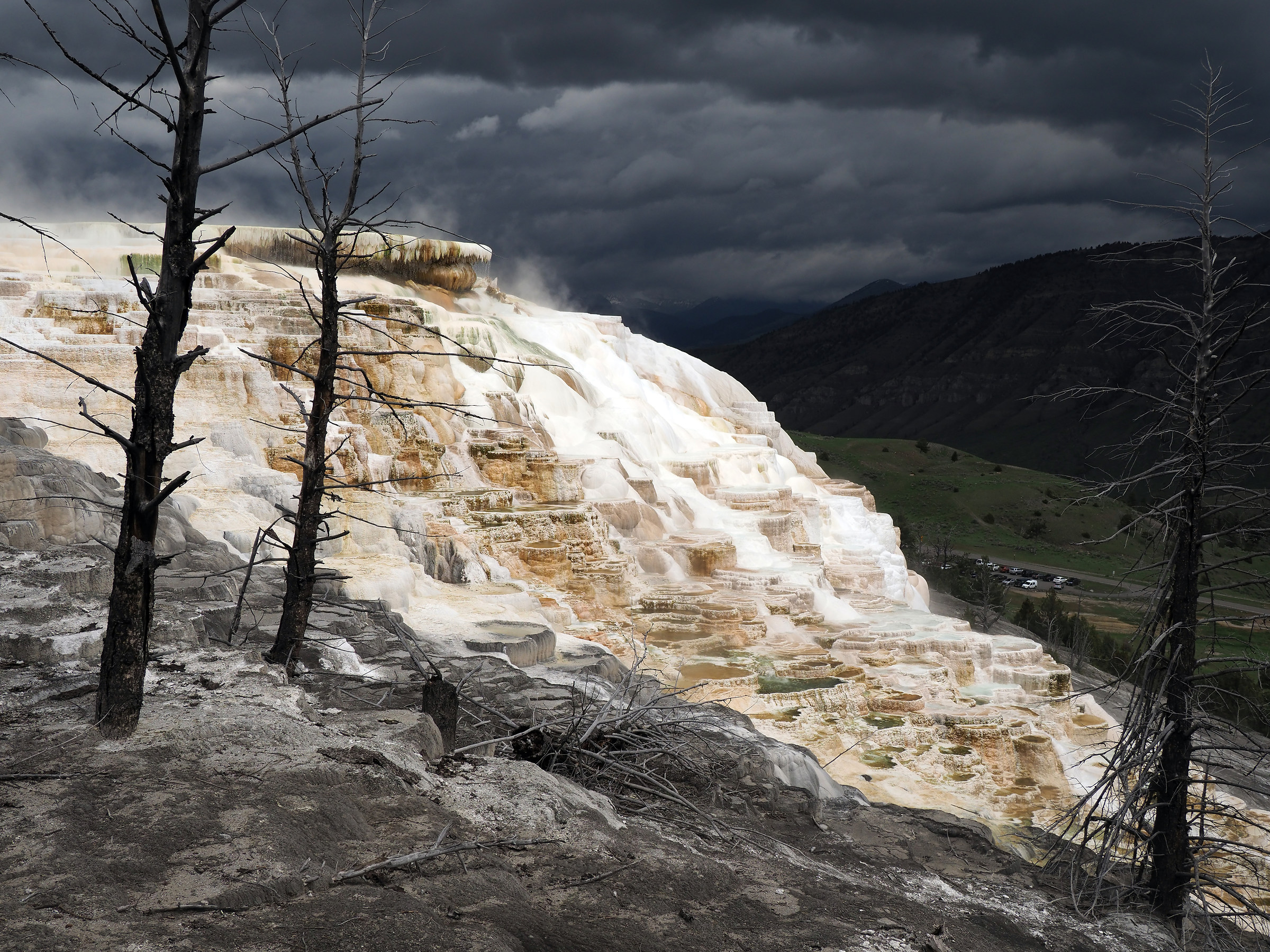 Yellowstone: Mammoth Hot Springs...
