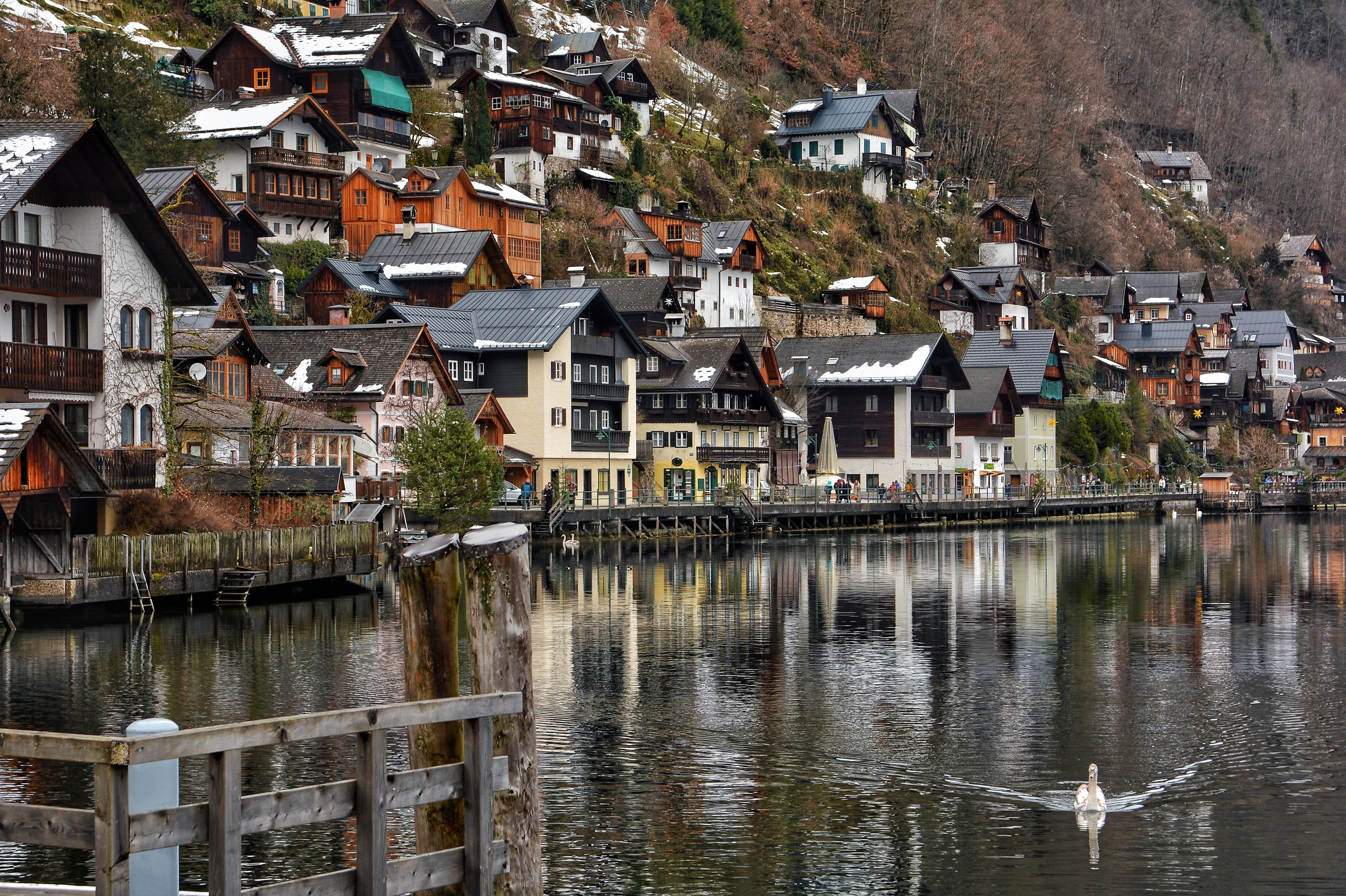 Houses on Lake Hallstatt...