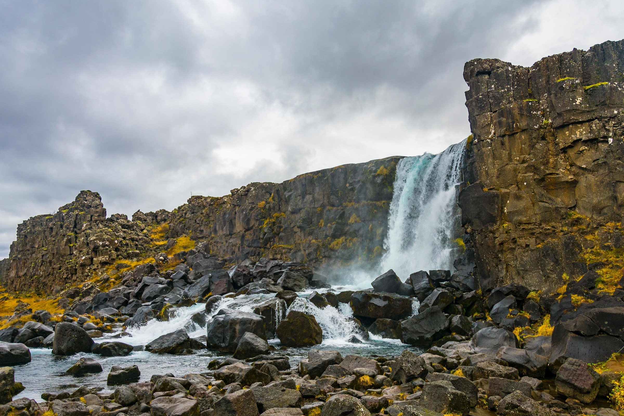 Icelandic waterfall...
