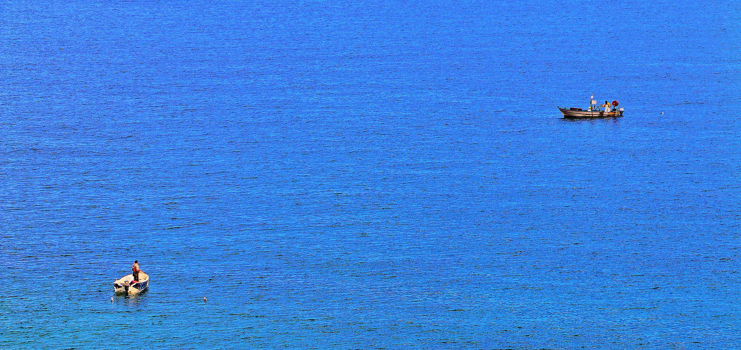 The sea......