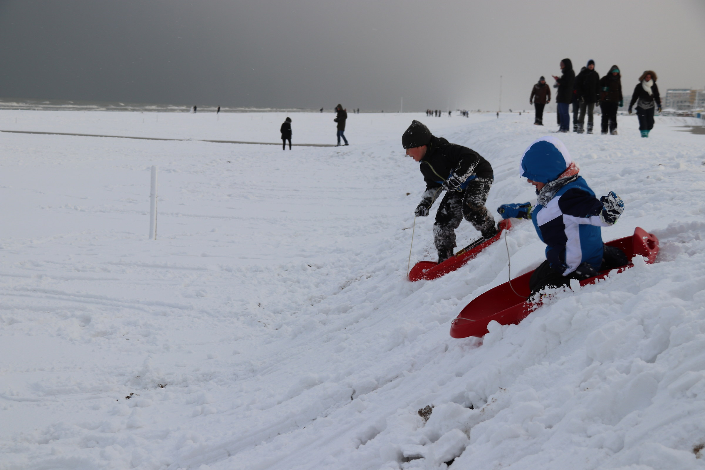 Snow in Spiagigia in Rimini...