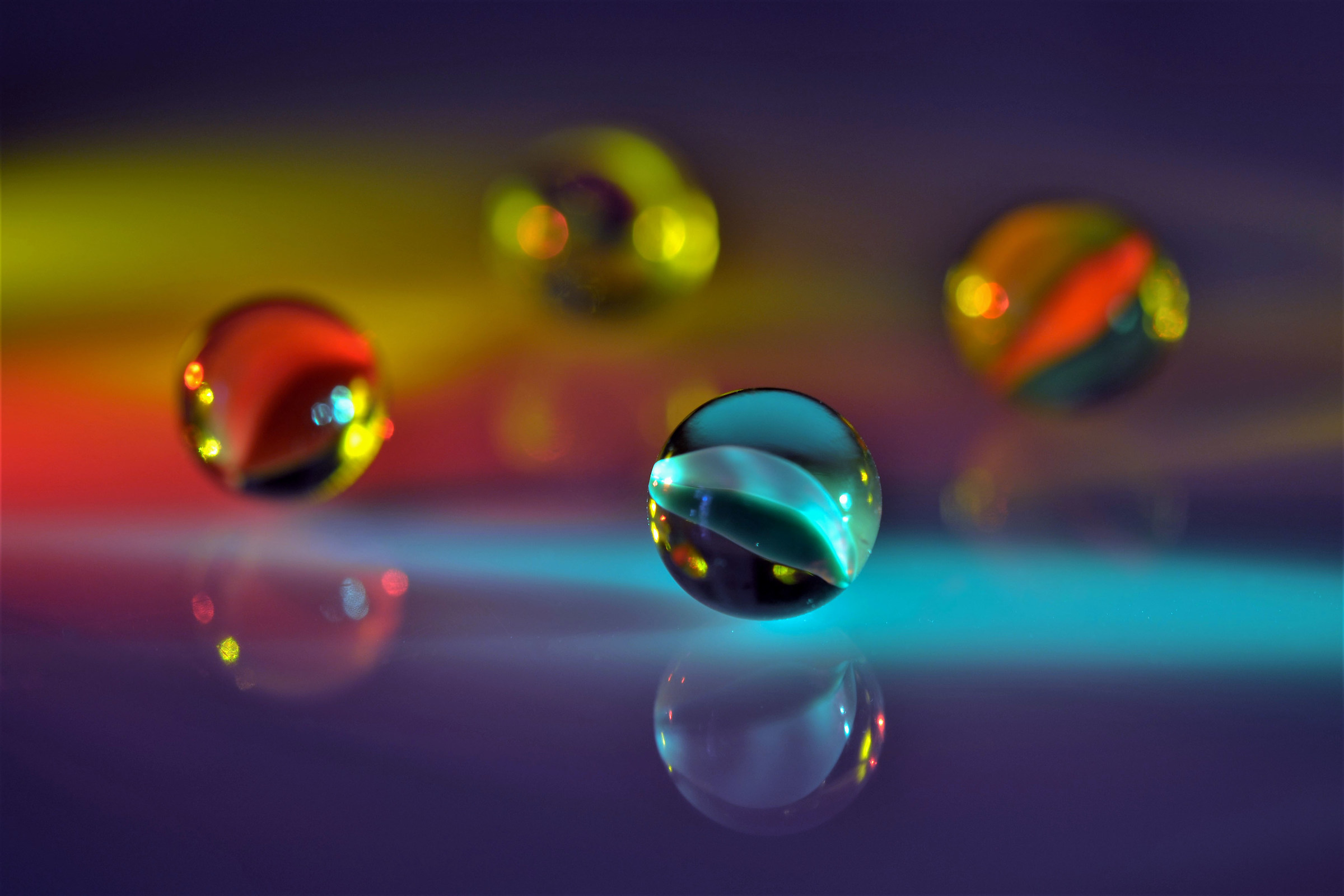 ... today I played with marbles...
