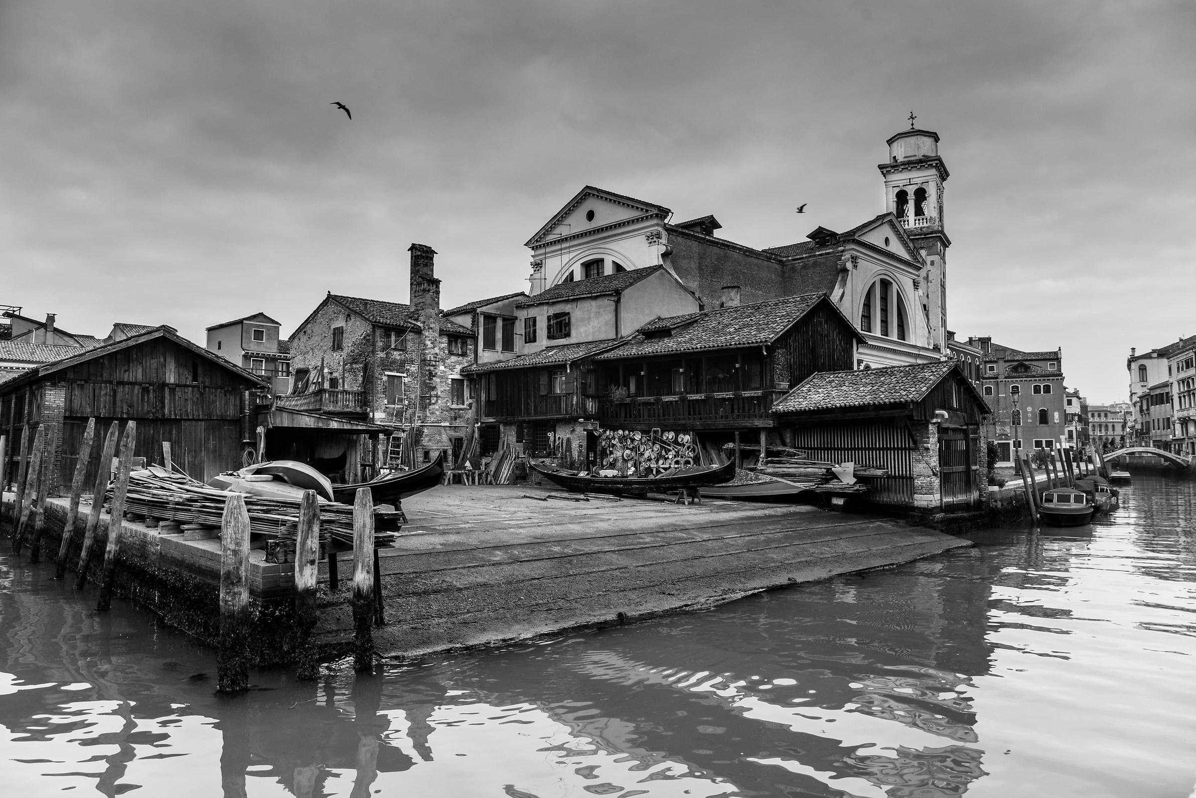 Squero San located in Venice....