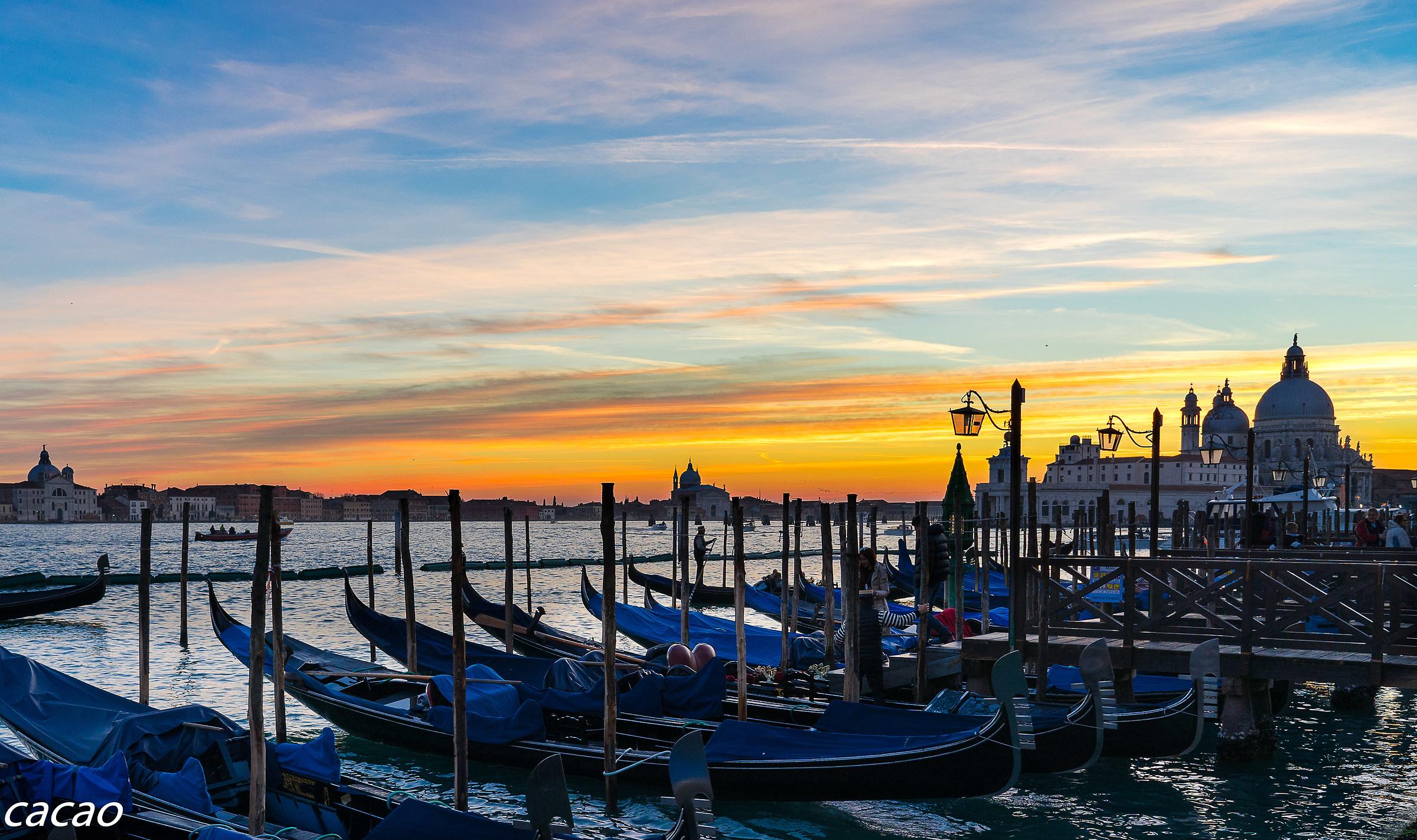 Sunset in Basin San Marco...