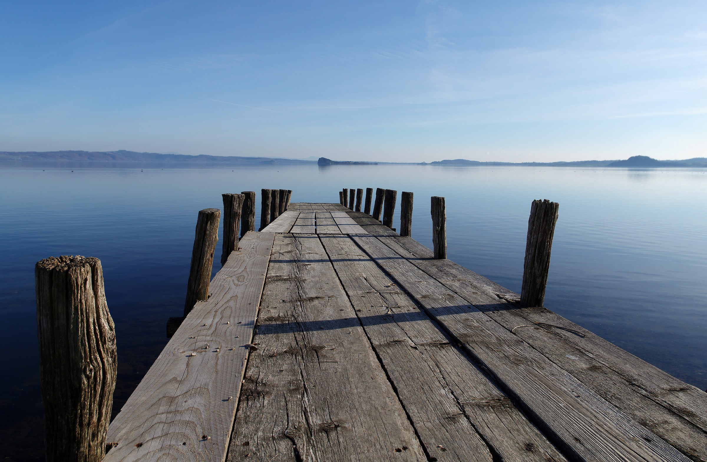 Pontoon on the lake of Bolsena...