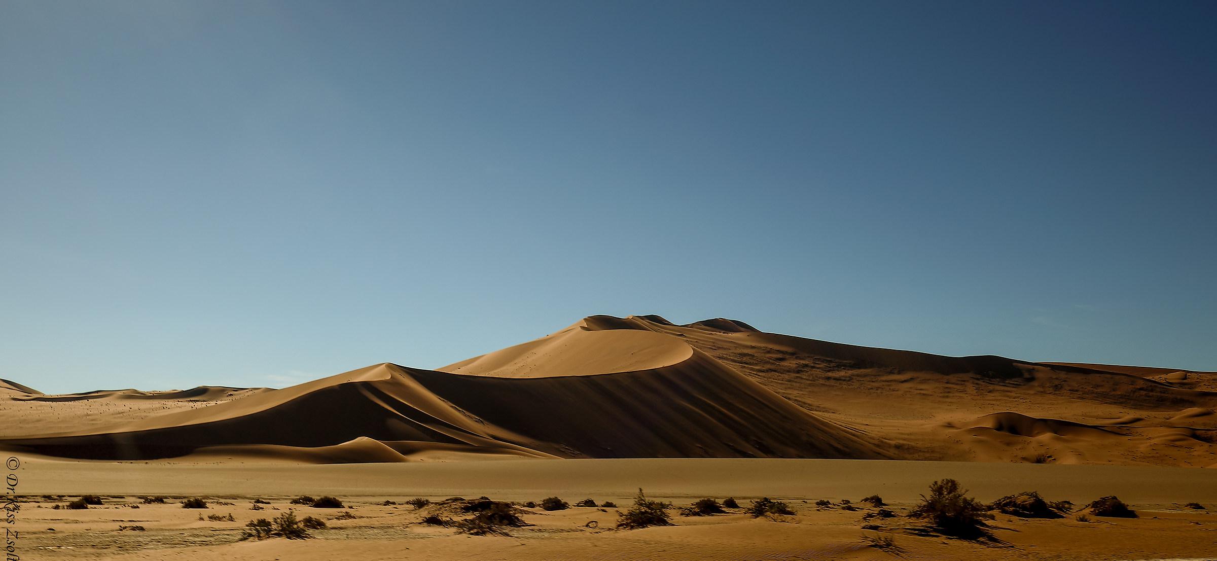 Sand dunes at Sossusvlei...