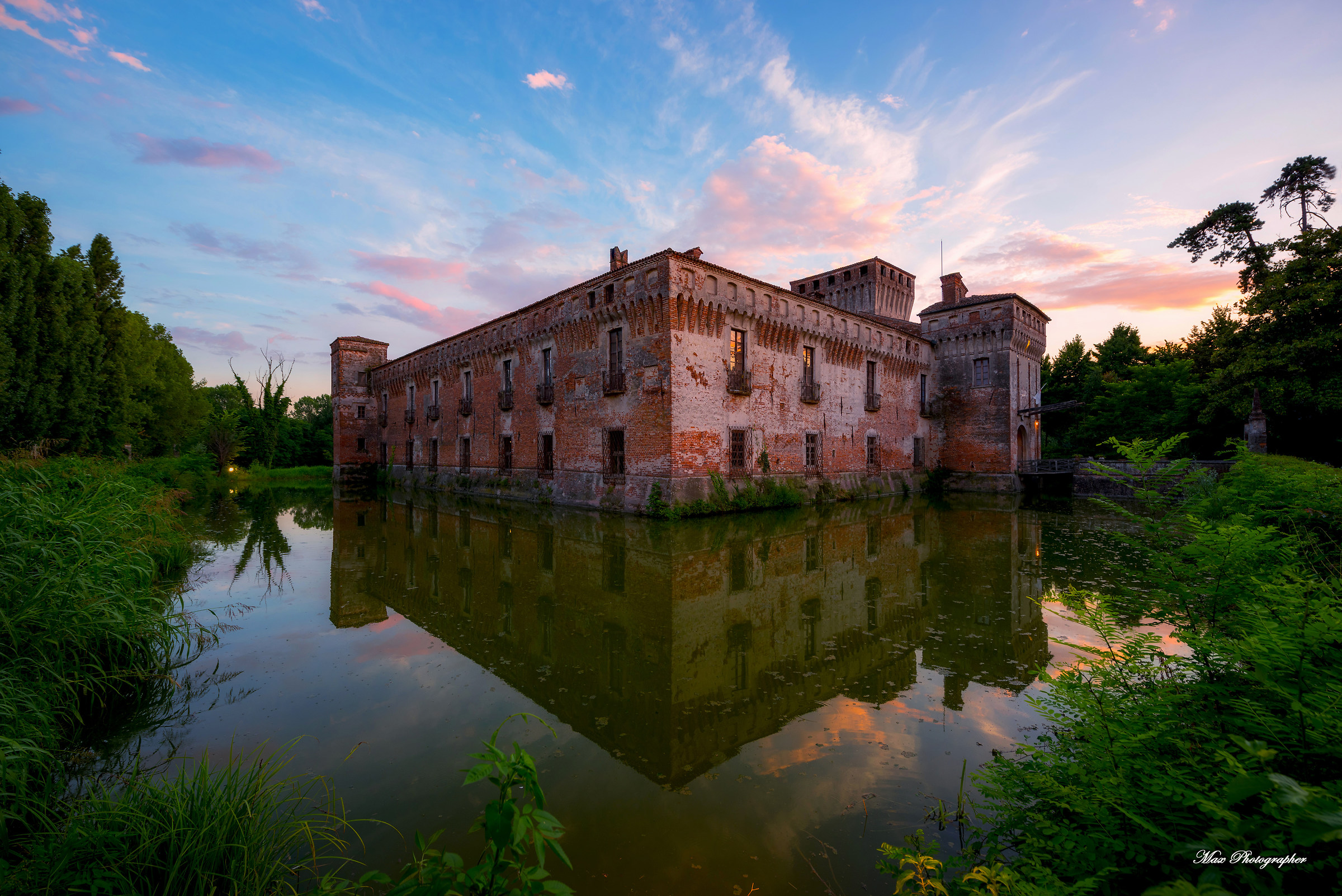 Padernello Castle at sunset...