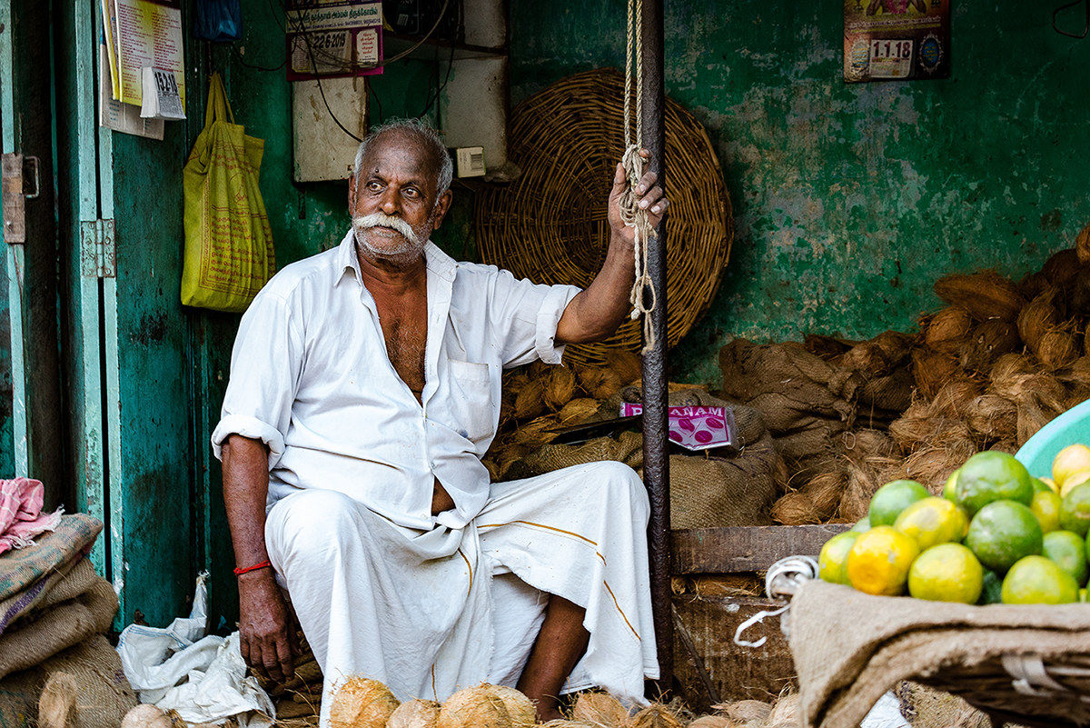 Serene faces at the market....