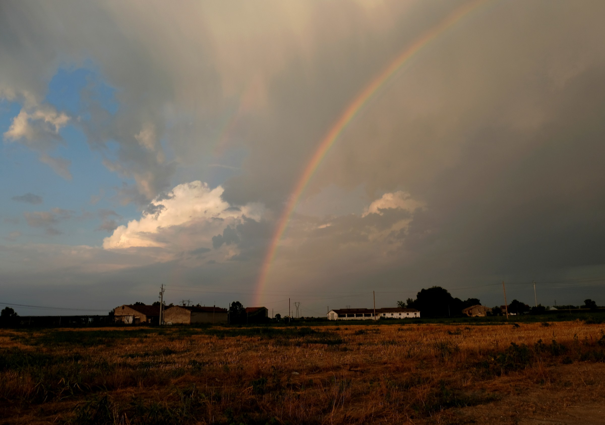 Rainbow in the countryside of Grezzano...