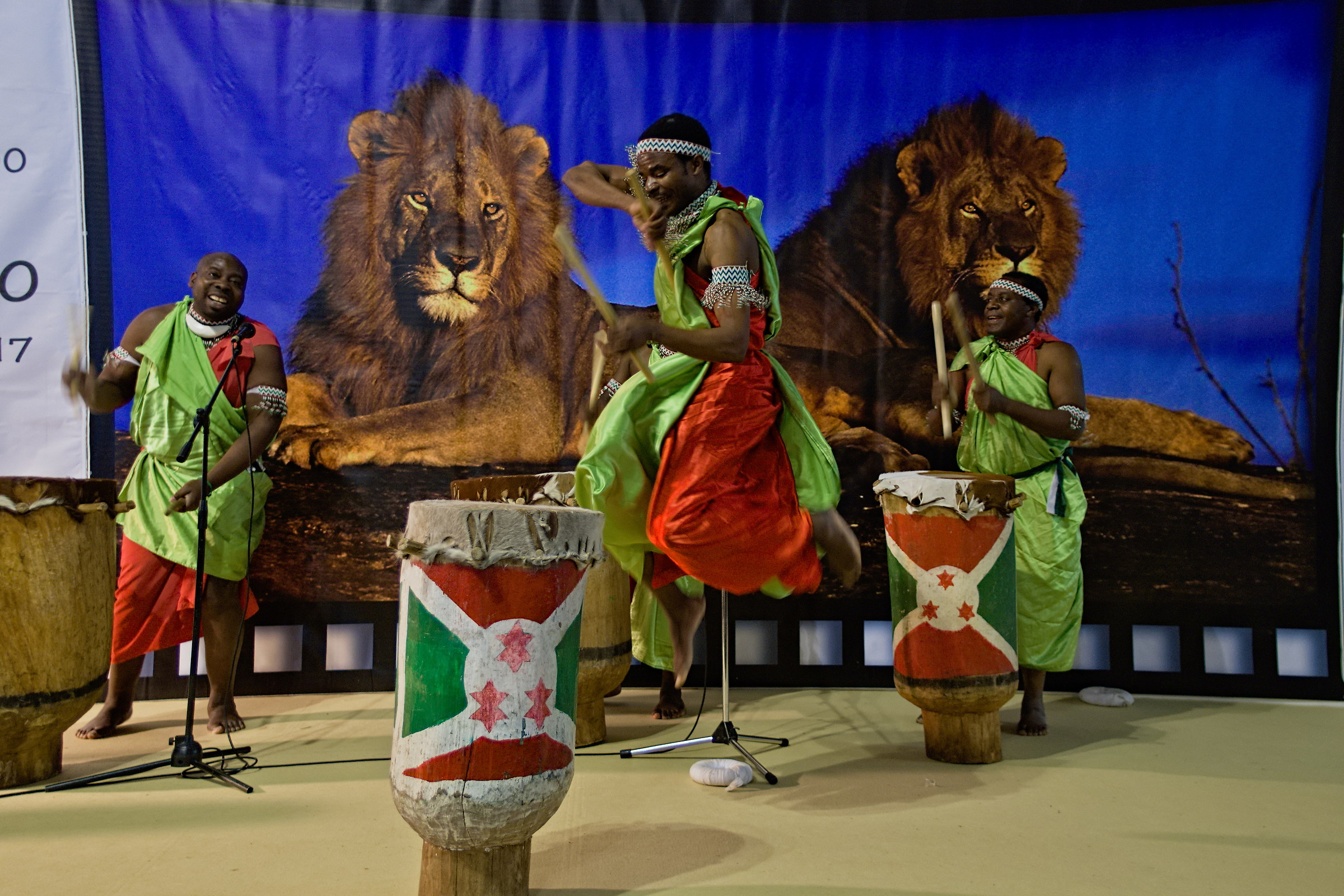 African percussionists...