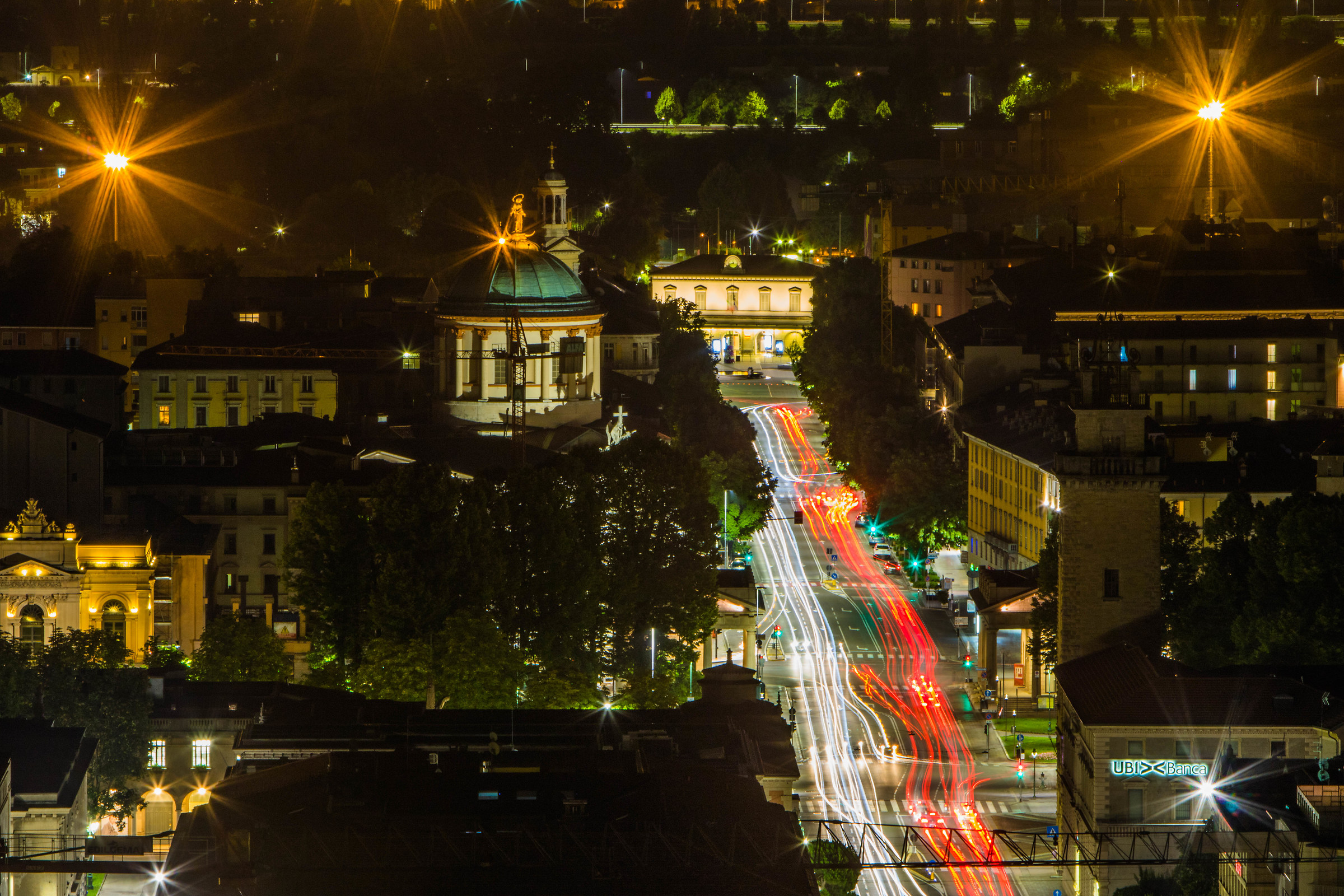 Bergamo by night...