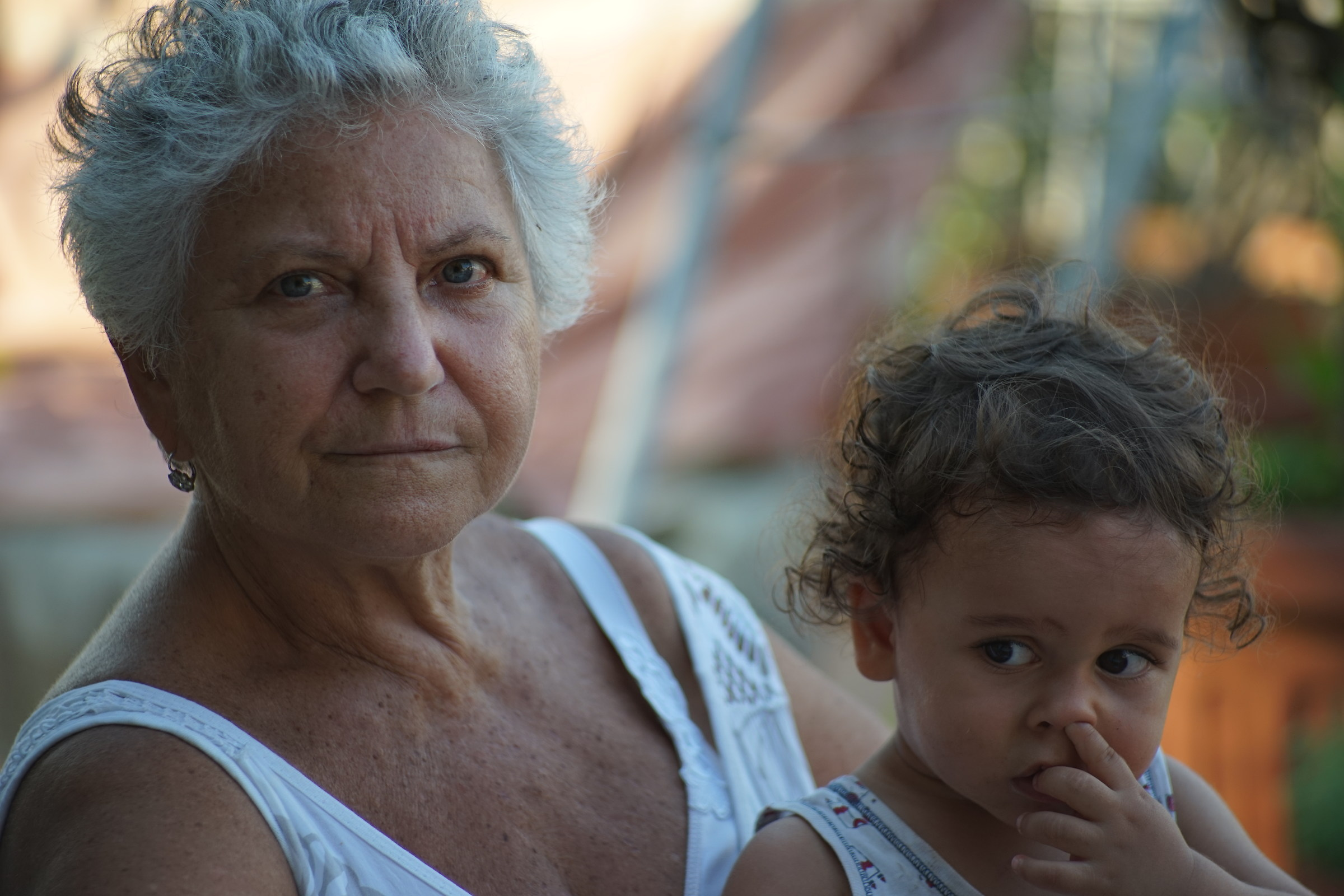 Grandmother and grandson...