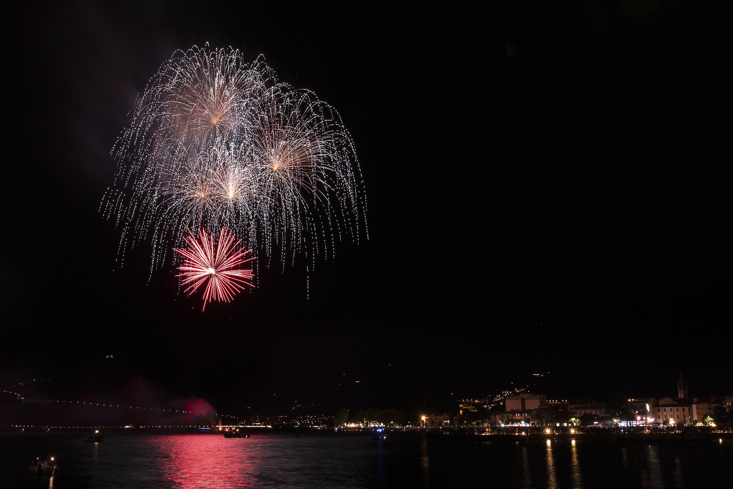 Fireworks in Iseo...
