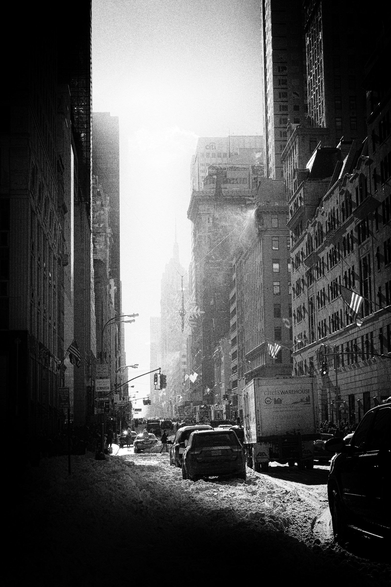 NY in the morning after the Storm #1...