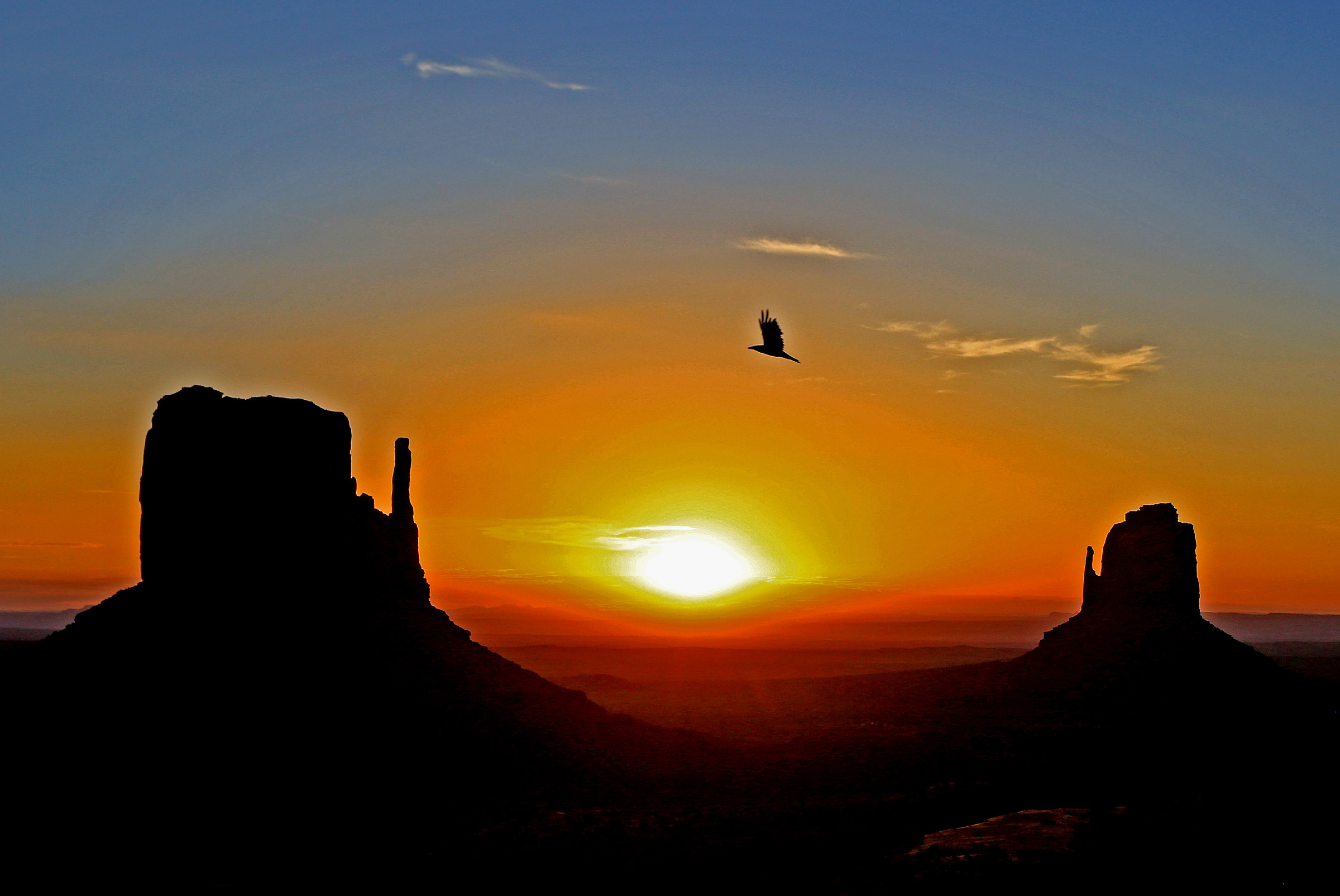 Sunrise at Monument Valley...