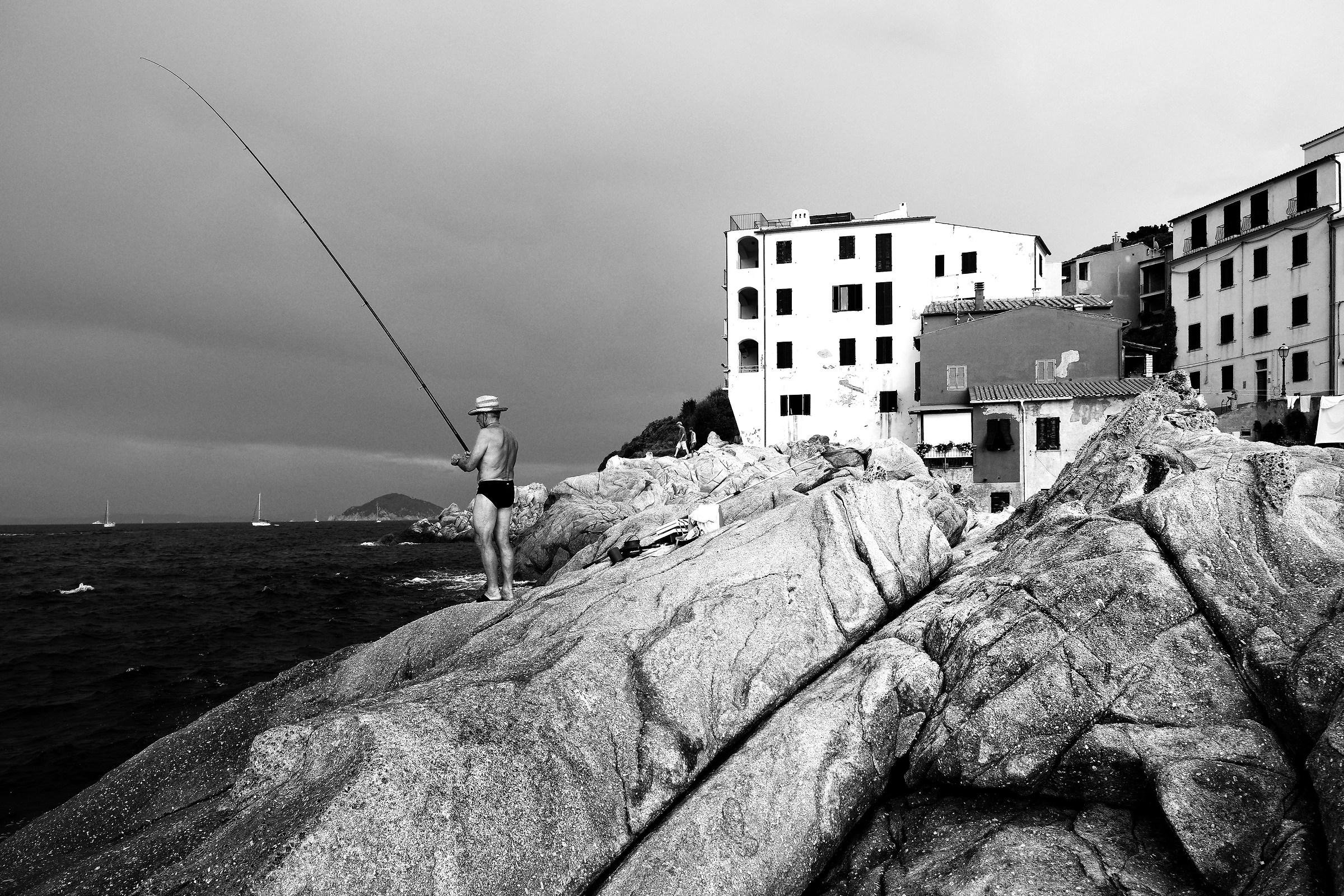 Pilade , il pescatore di Marciana Marina...