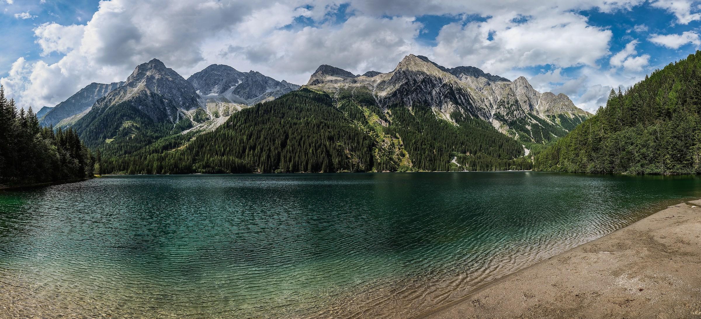 Anterselva Lake in summer...