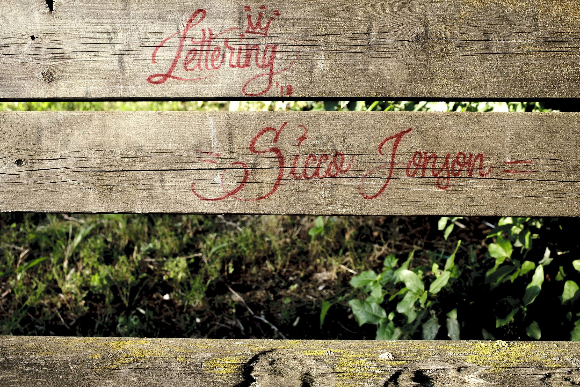 lettering...