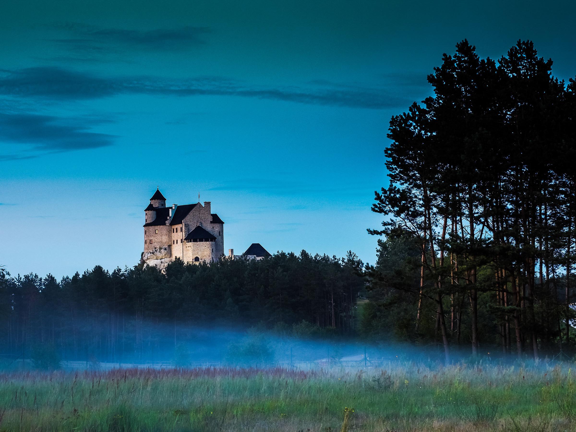 Bobolice Castle - evening fog...