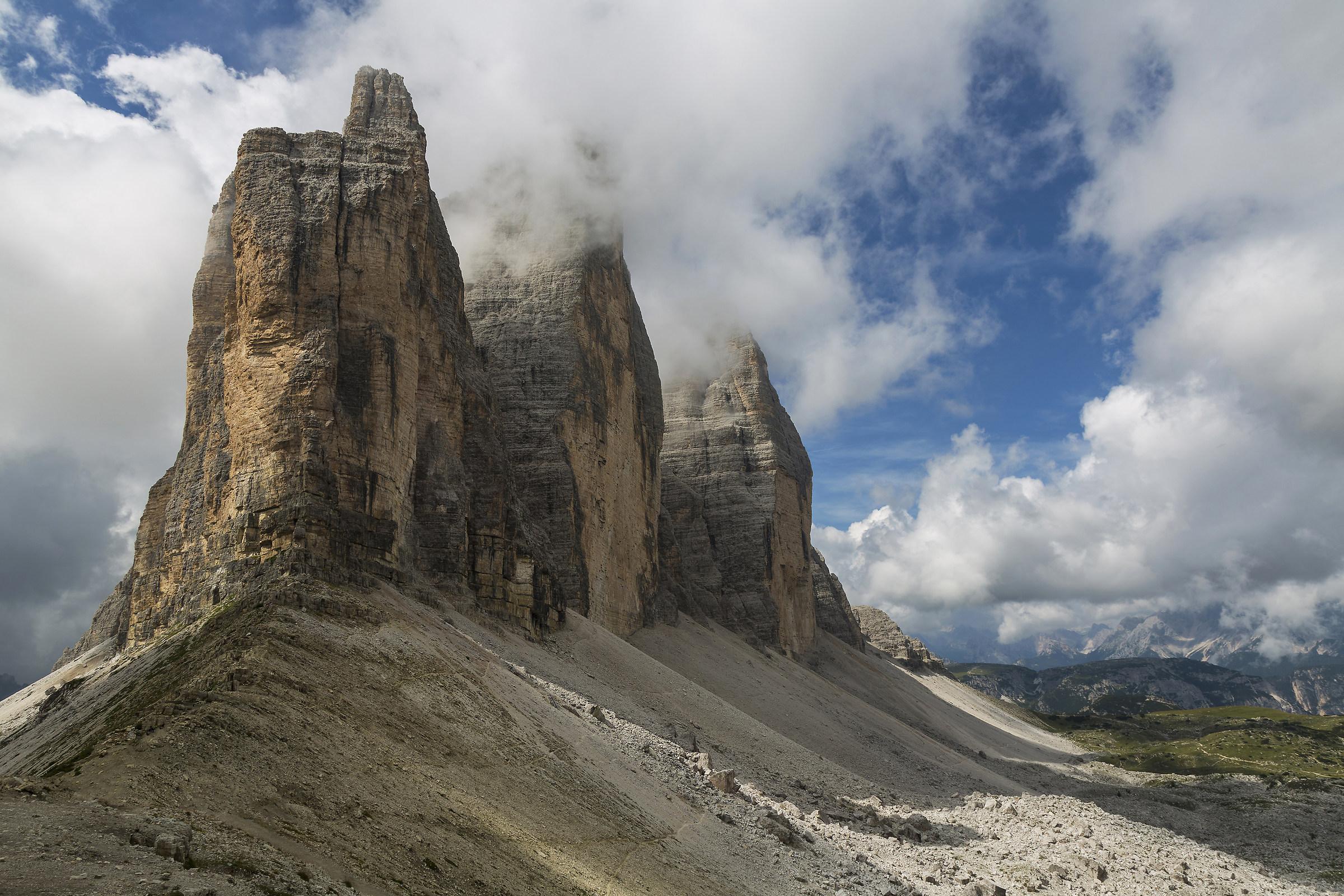 The three peaks of Lavaredo (drei Zinnen)...