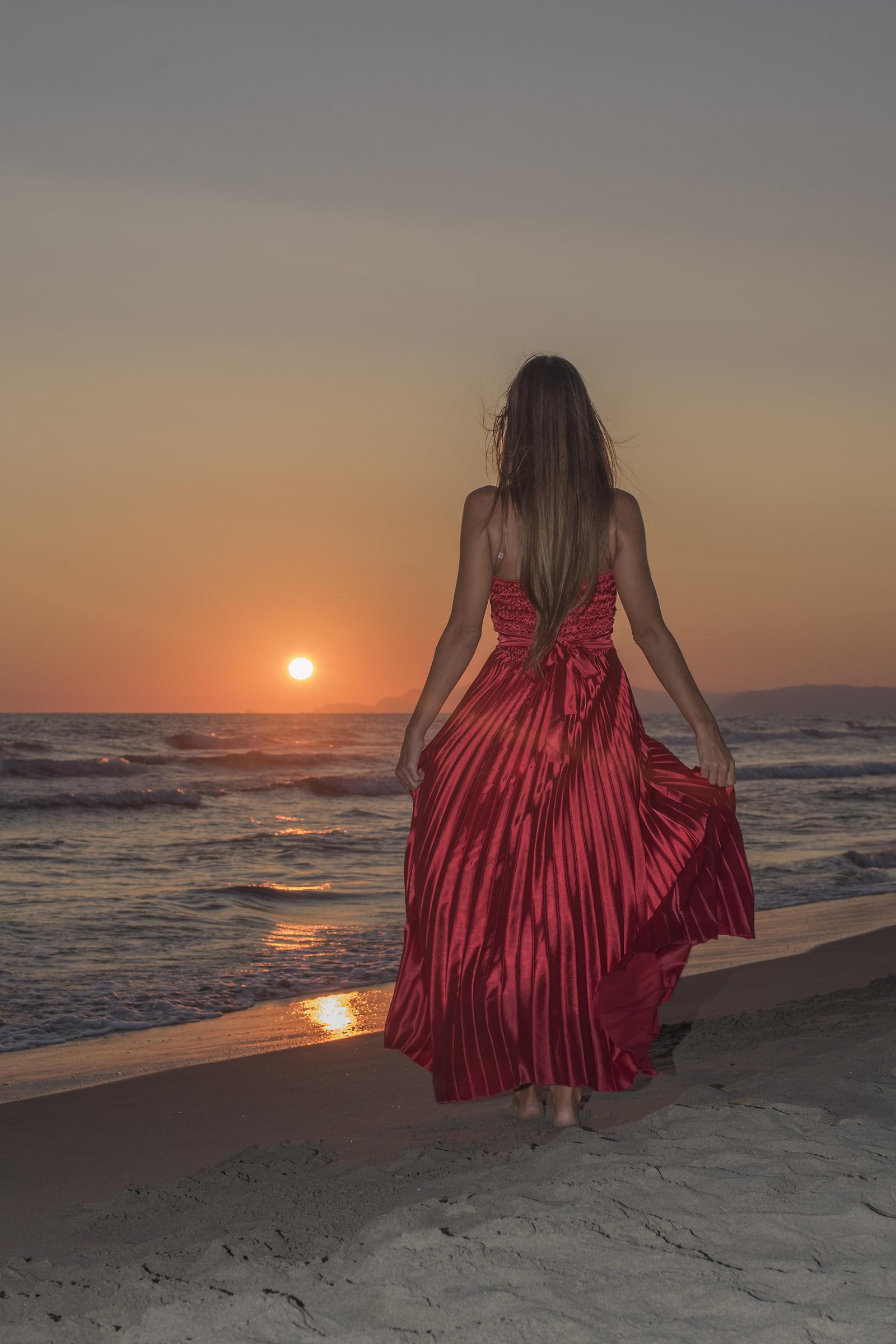 Red Sunset in Versilia...