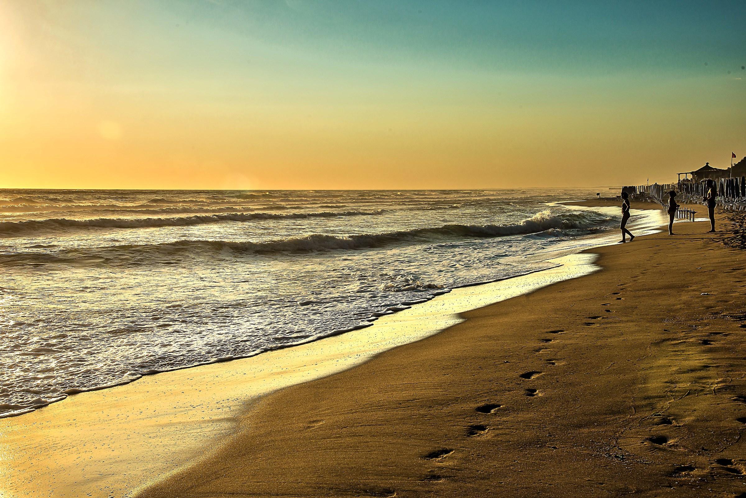 At the beach at sunset...