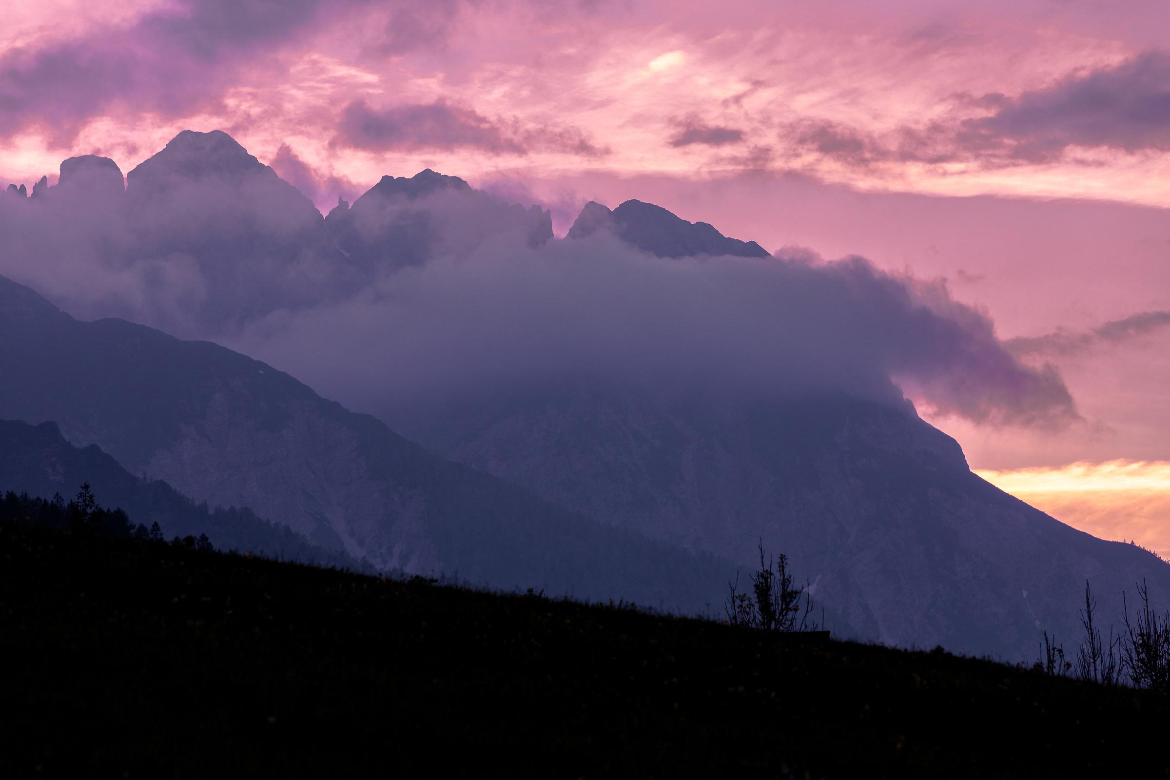 Tramonto sulle Dolomiti...